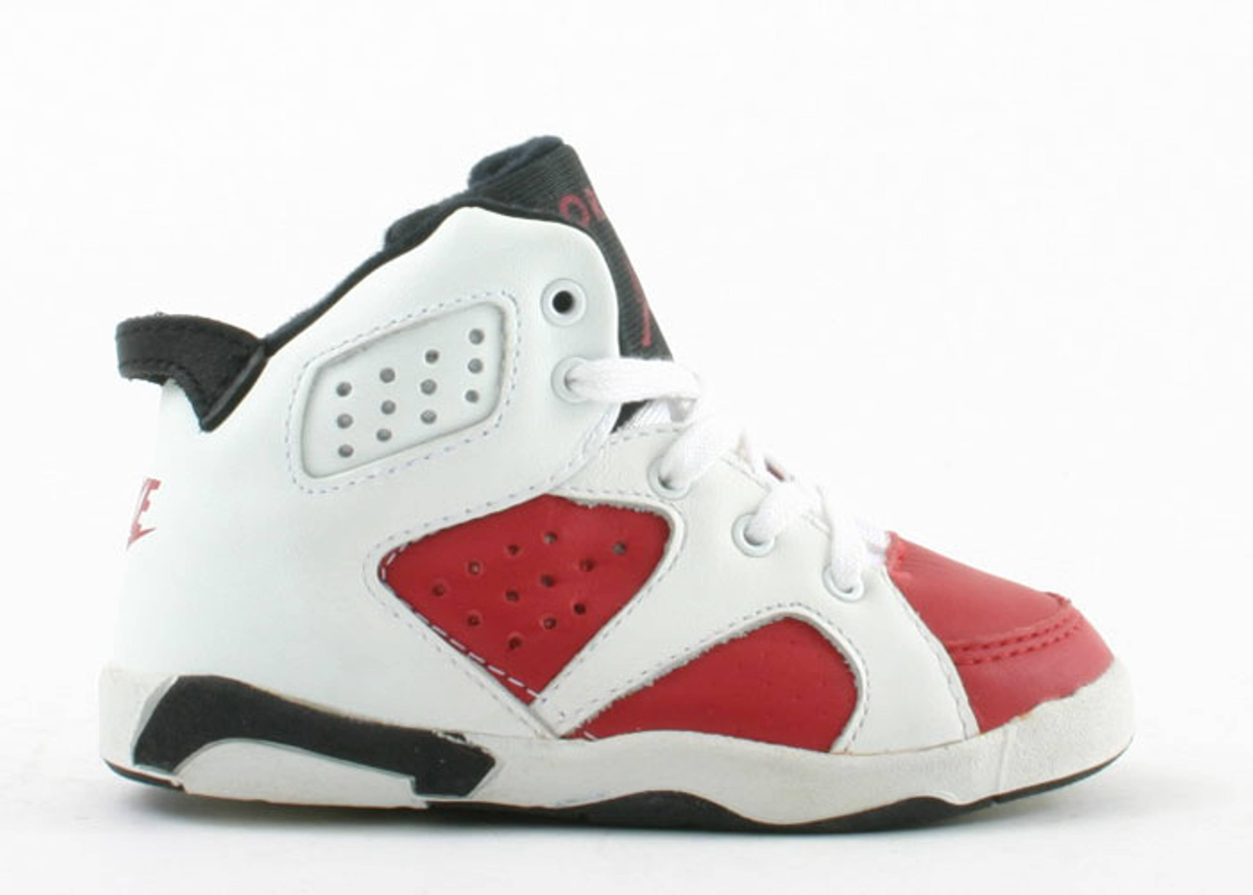 d6c84ebdd5a Baby Jordan 6 - Air Jordan - 7729 - white/carmine/black | Flight Club