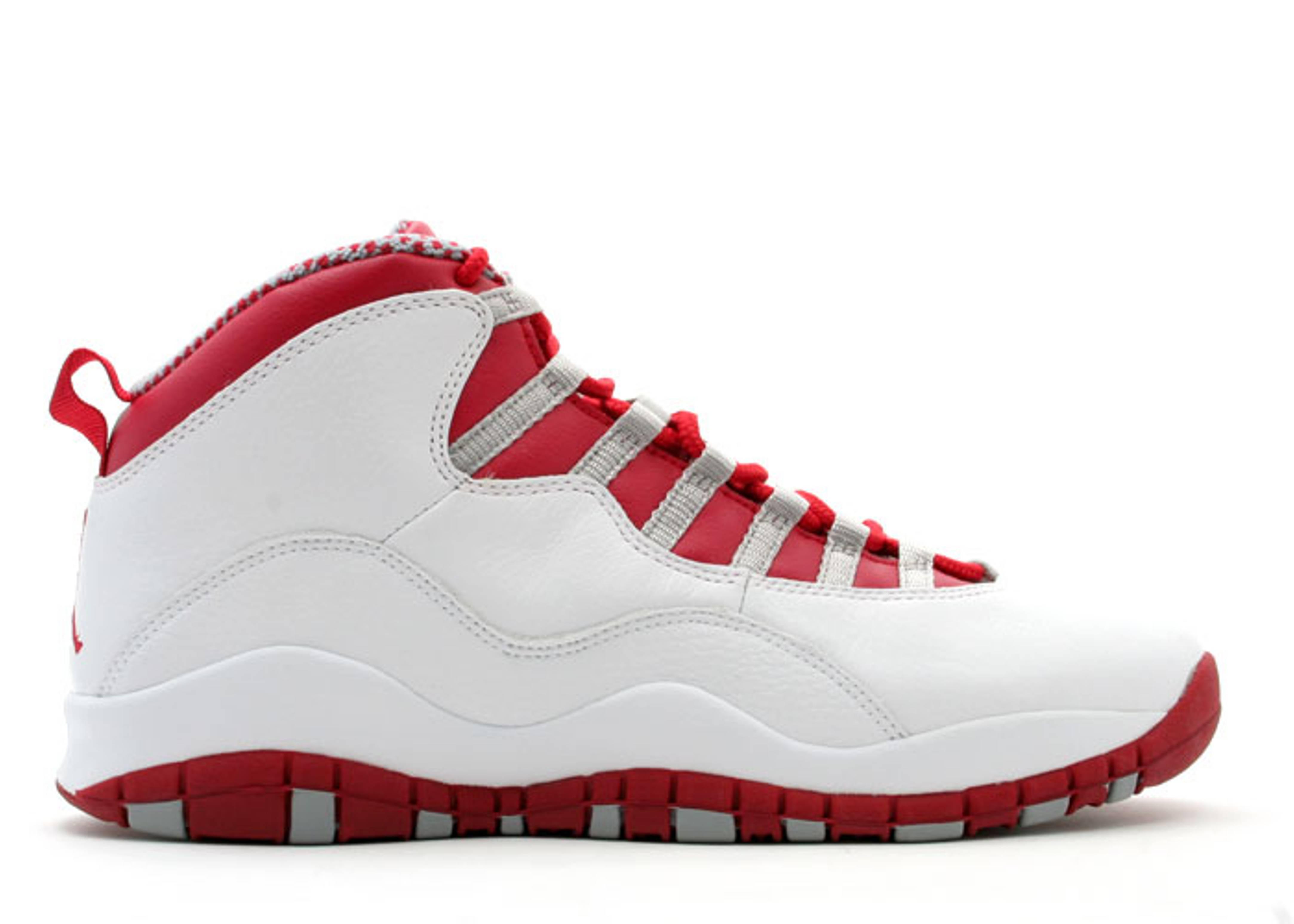 air jordan 10 white red