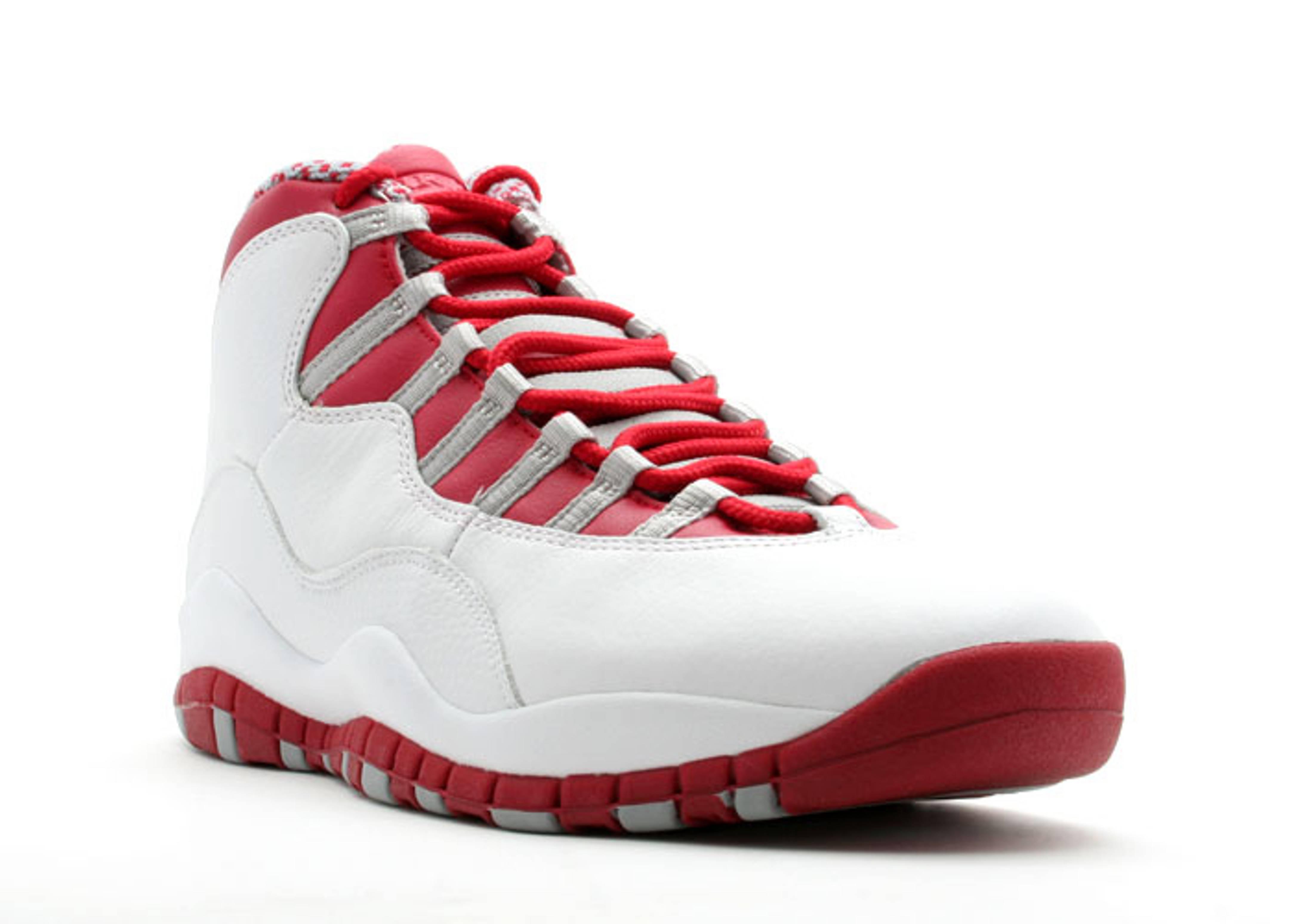 air jordan 10 red and white