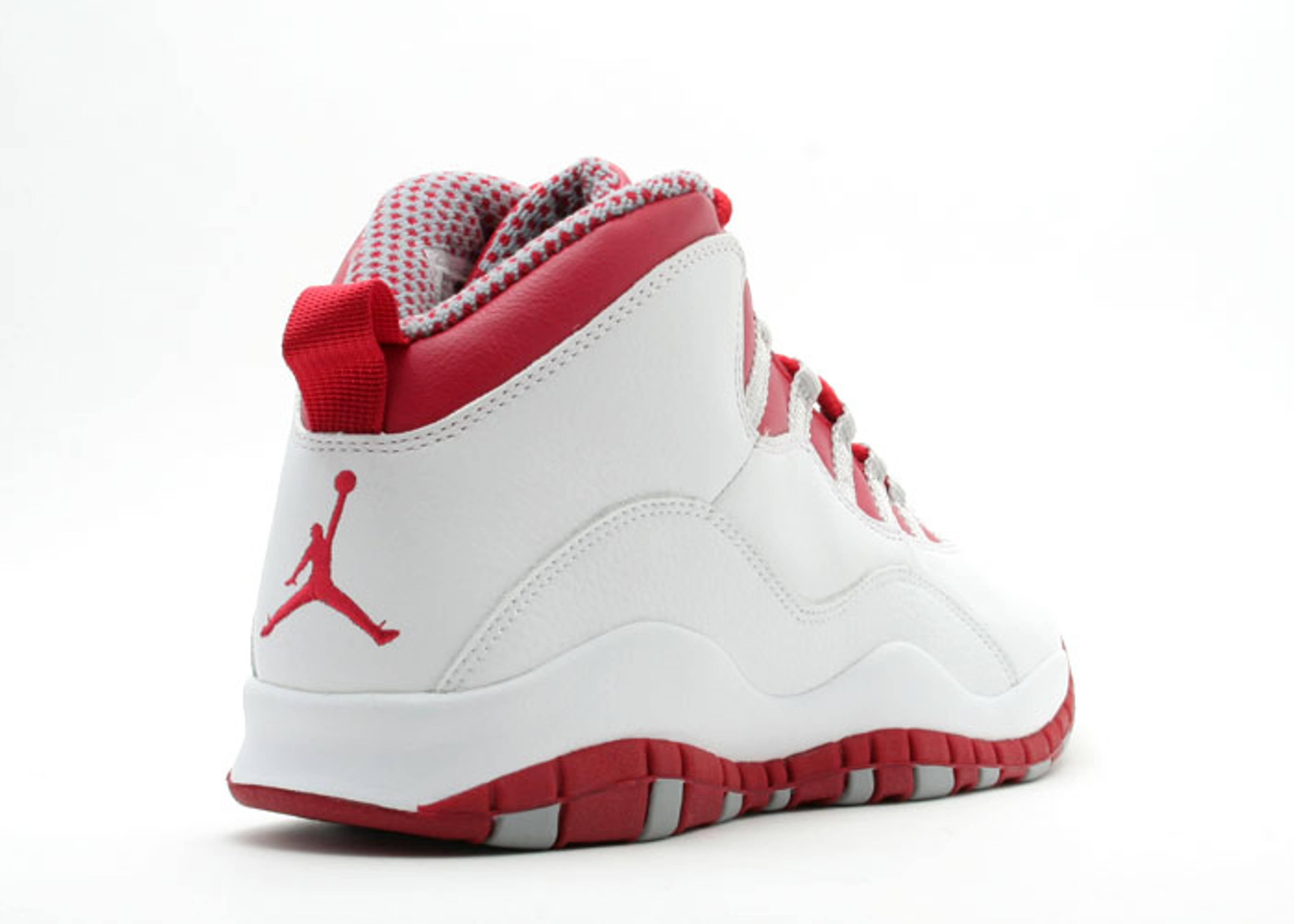 Jordan 10 Red 5.5 Size Four Jordans - 153.6KB