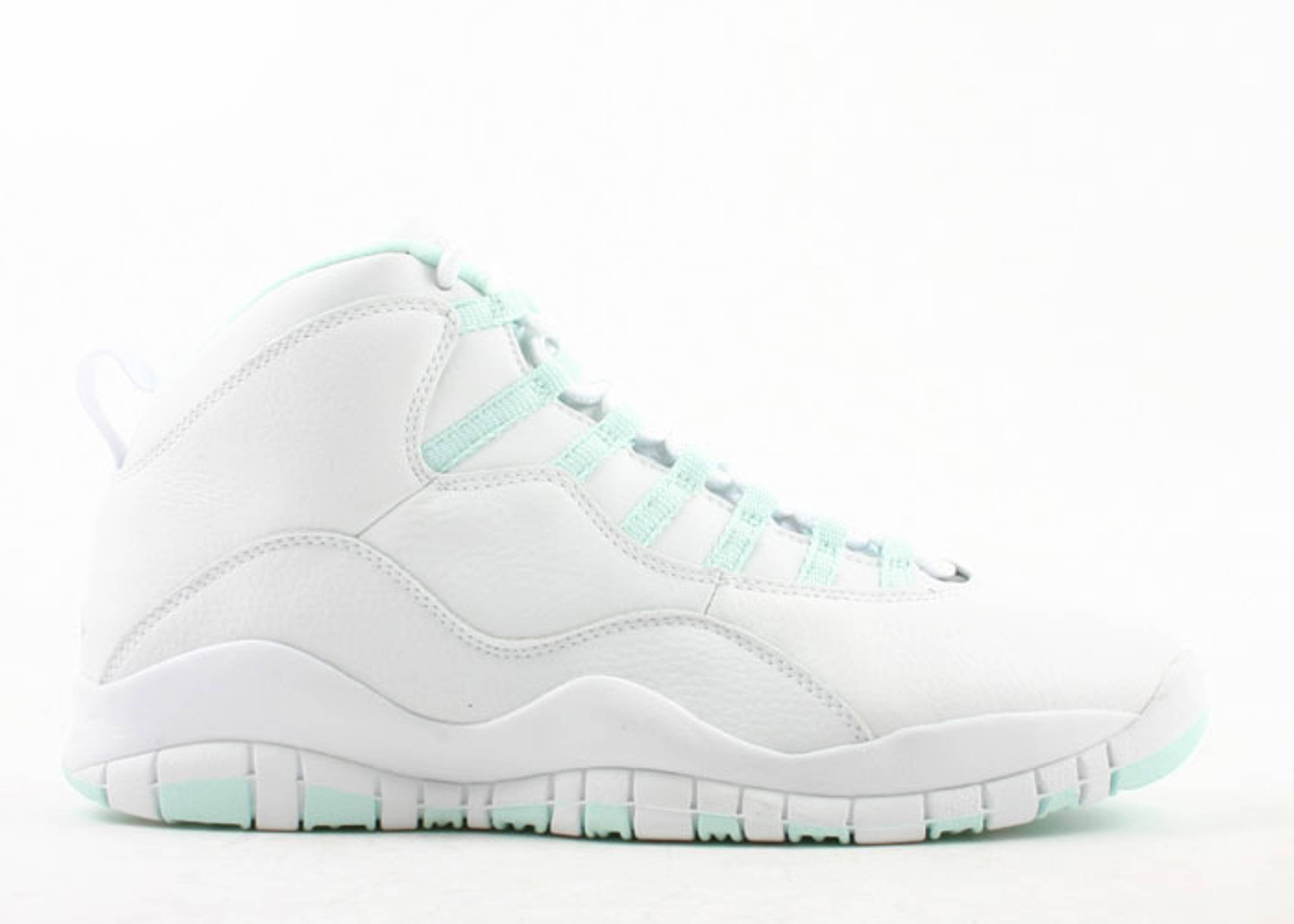 1f8658cc04adcd womens air jordan retro 10 white green