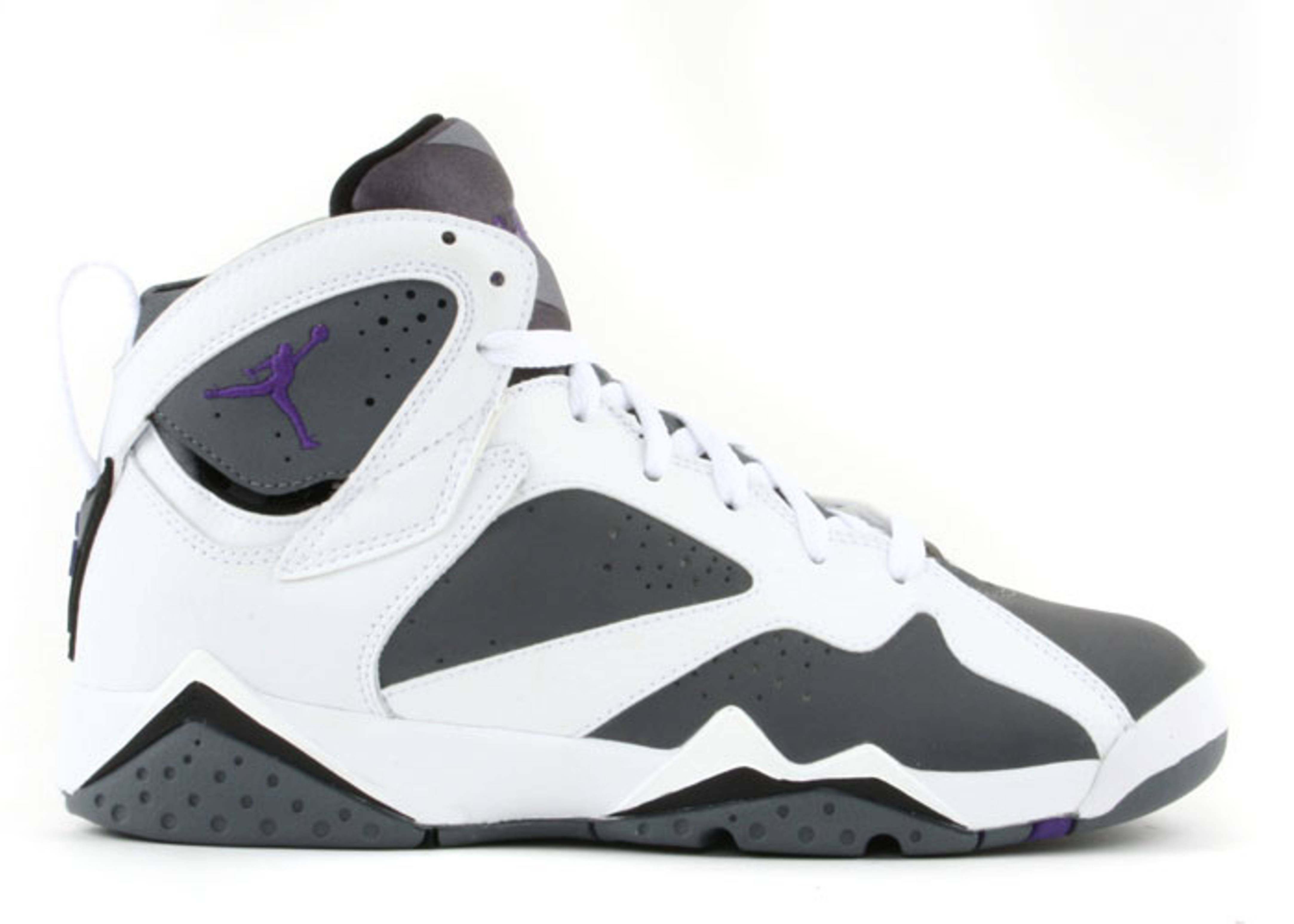 a7e51310fe8e Air Jordan 7 Retro (gs) - Air Jordan - 304774 151 - white varsity purple-flint  grey
