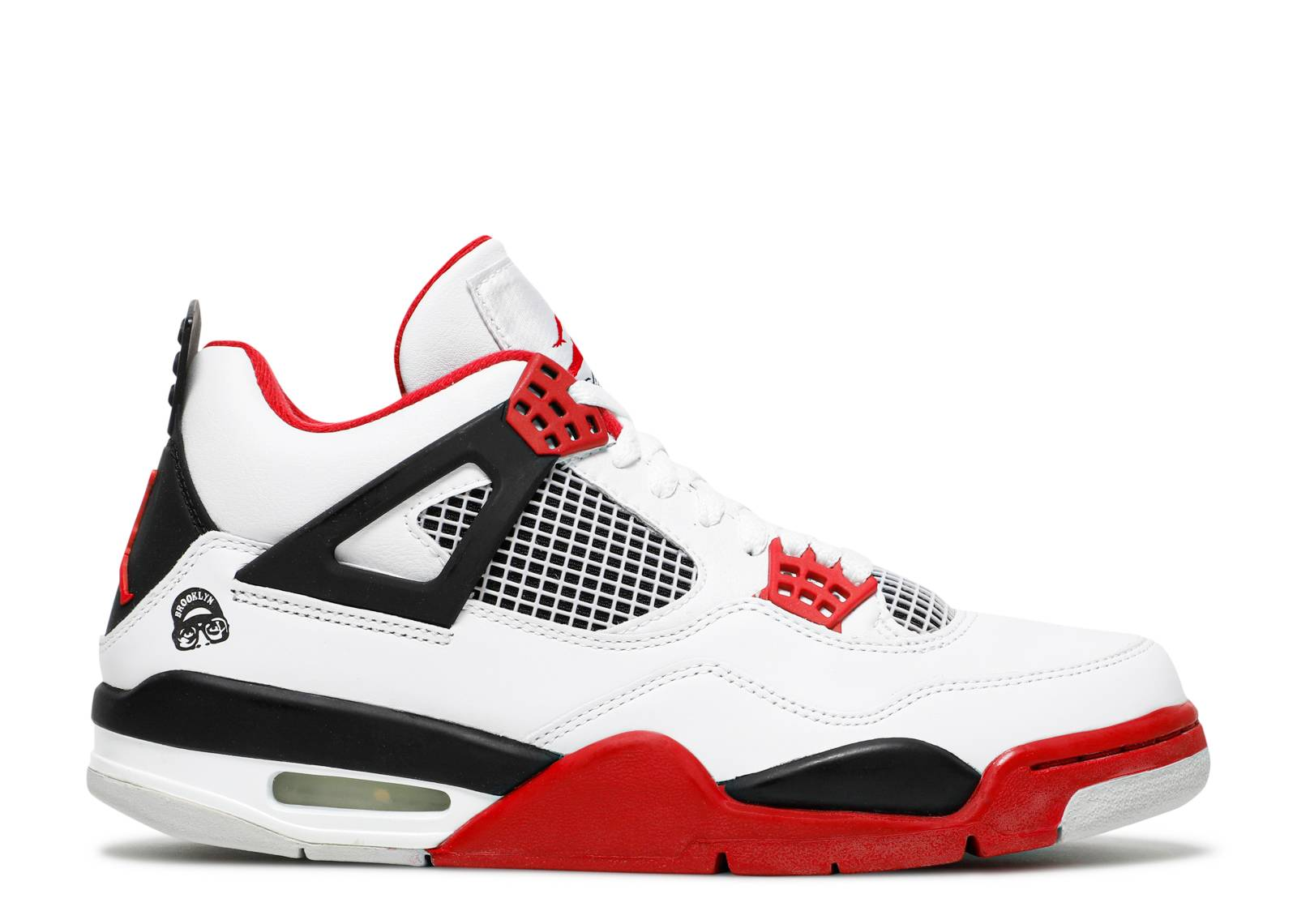 Nike Air Jordan 4 Retro Fire Red White/Varsity Red-Black Trainer Size 8 UK