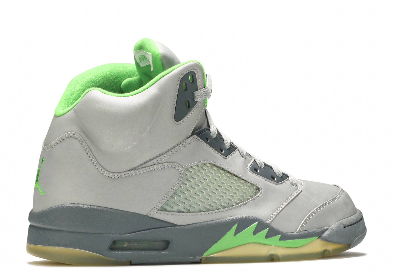 Air Jordan 5 Grey And Green