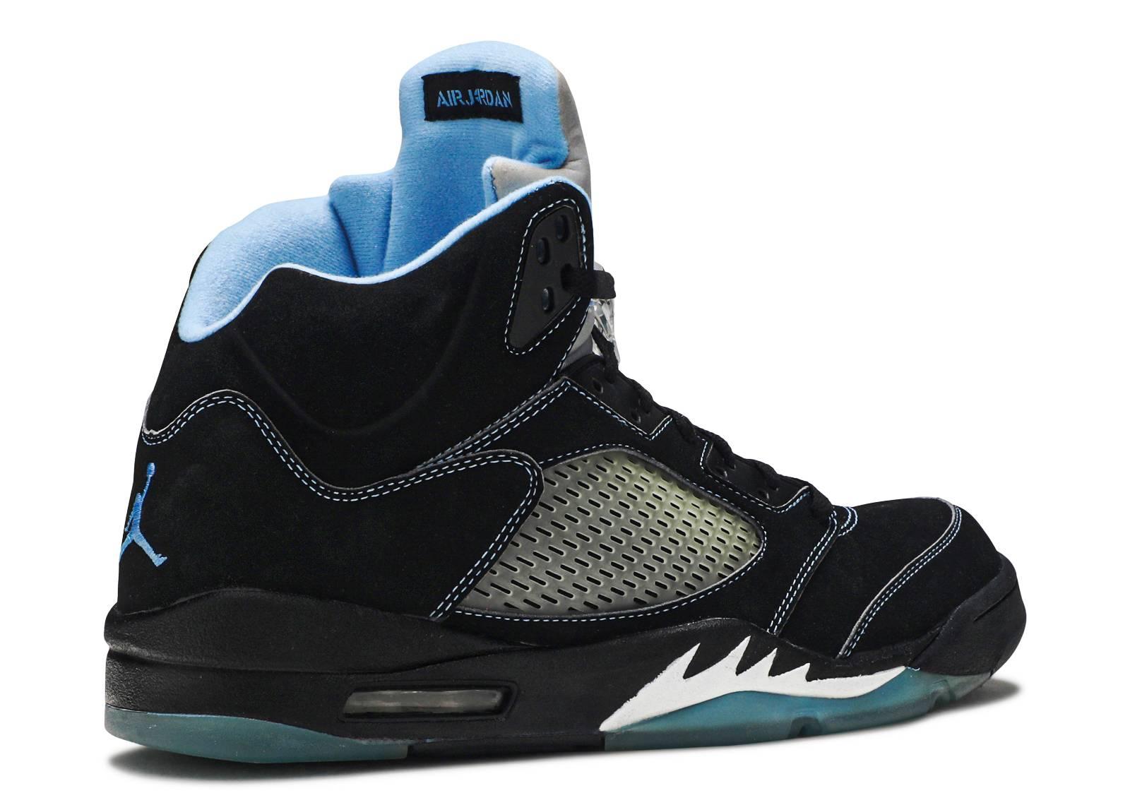 online store cae87 9f185 Air Jordan 5 Retro Black University Blue Silver shoes