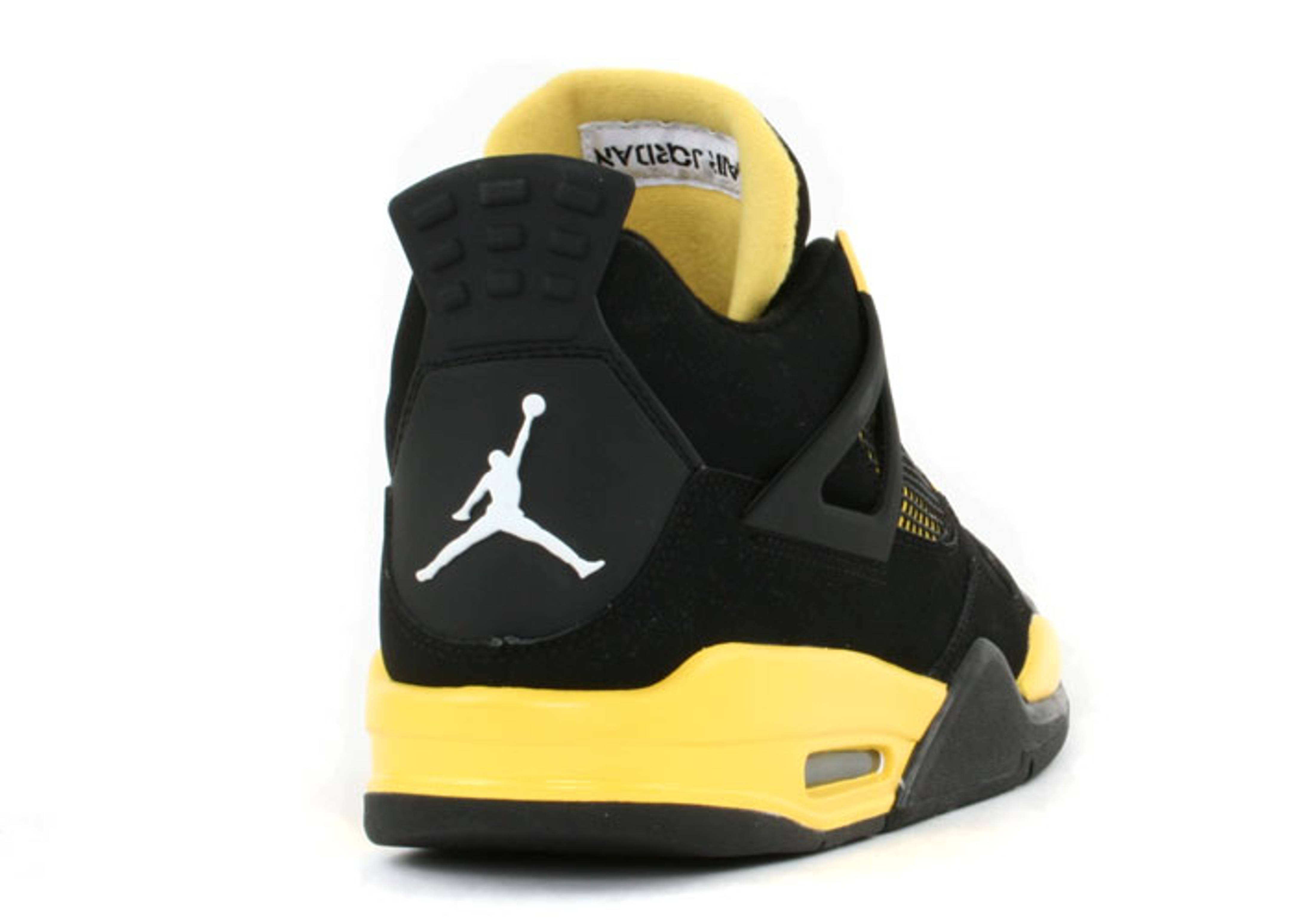 the best attitude 79669 604ba ... czech air jordan 4 retro ls thunder air jordan 314254 071 black tour  yellow white flight