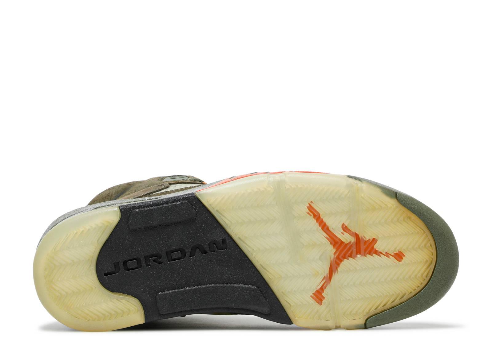 5598f2c261c439 Air Jordan 5 Retro Ls - Air Jordan - 314259 381 - army olive solar orange