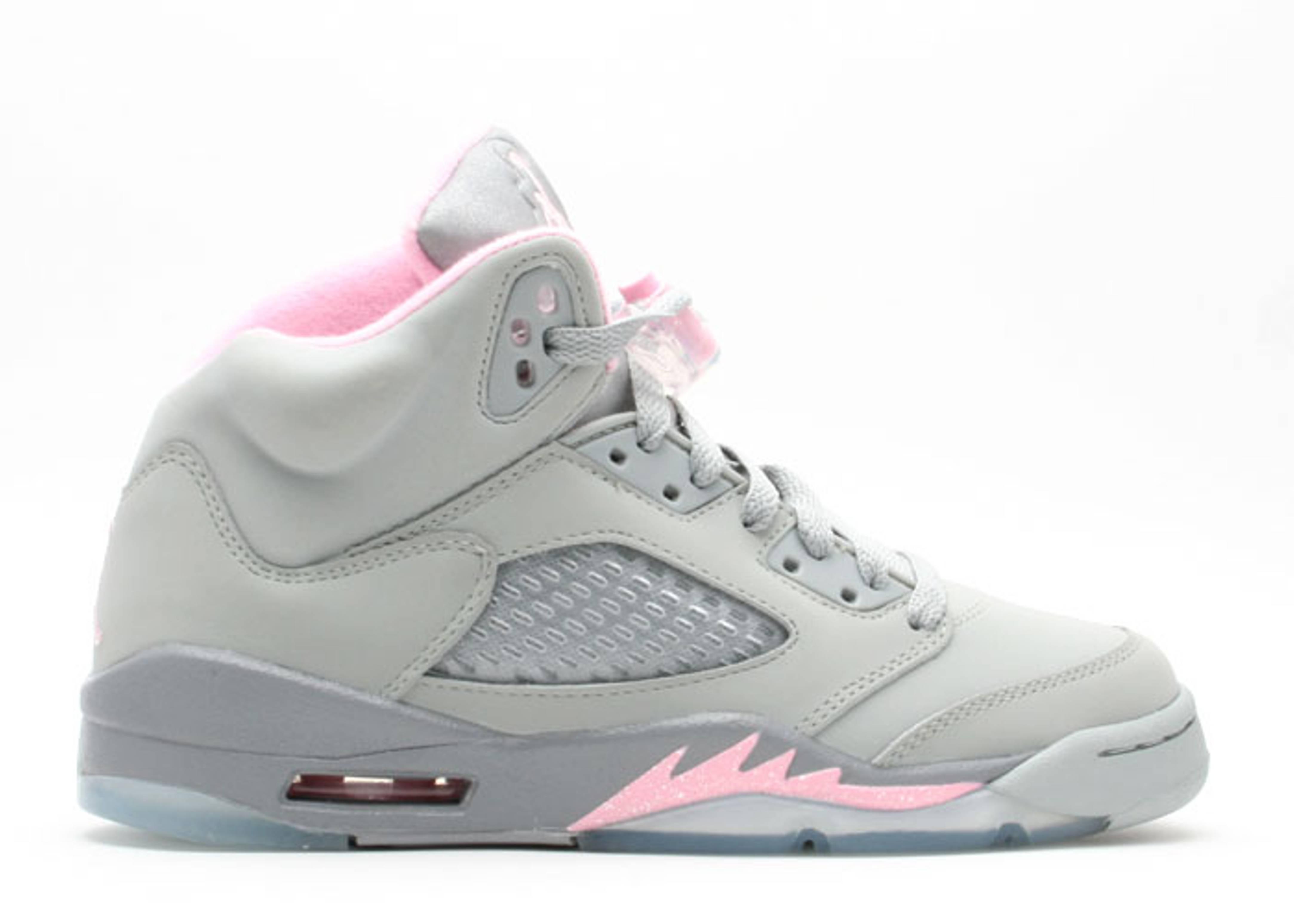 7313cf3bf82 Air Jordan 5 Retro (gs) - Air Jordan - 134092 061 - silver/shy pink ...
