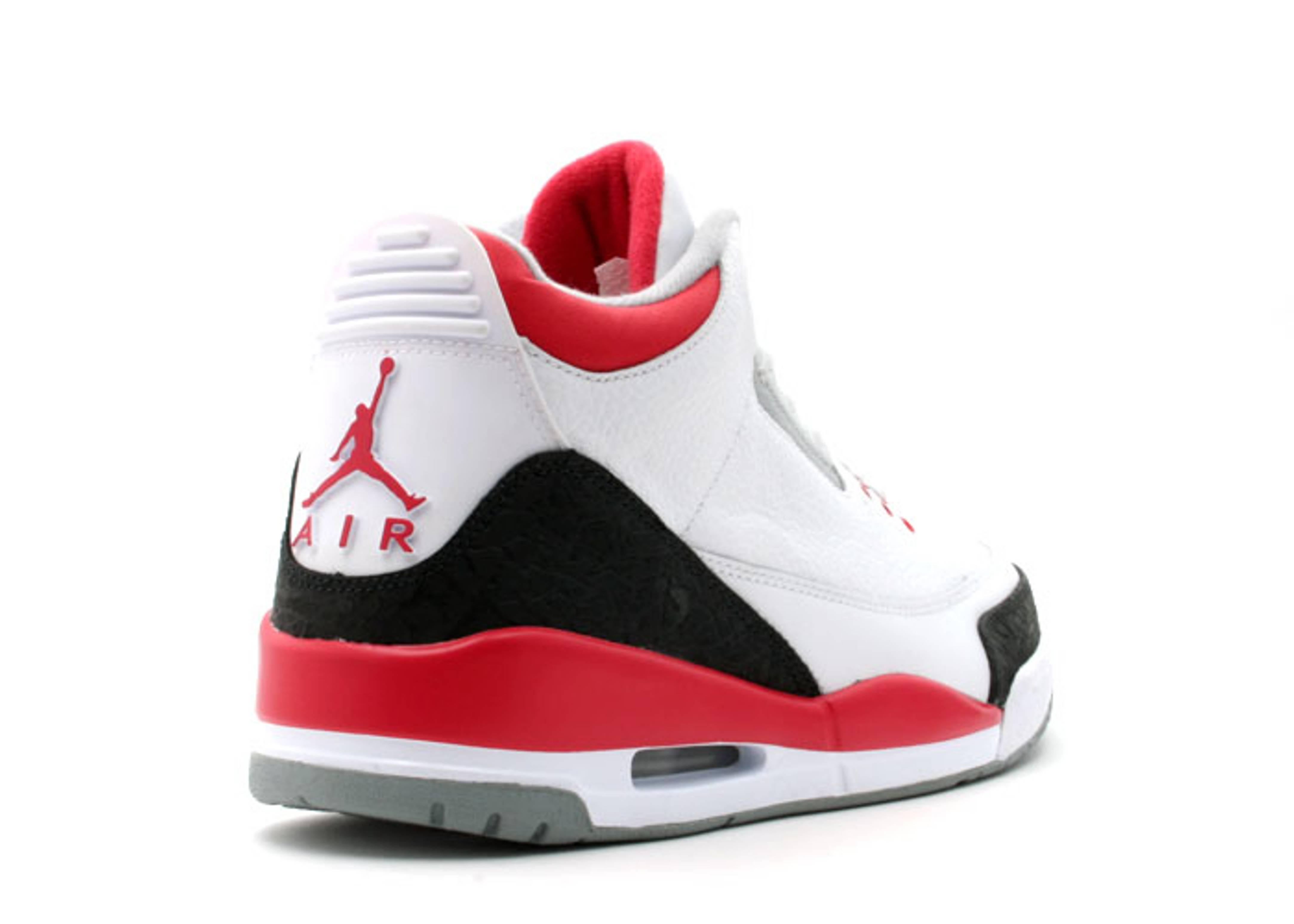 air jordan retro 3 white red