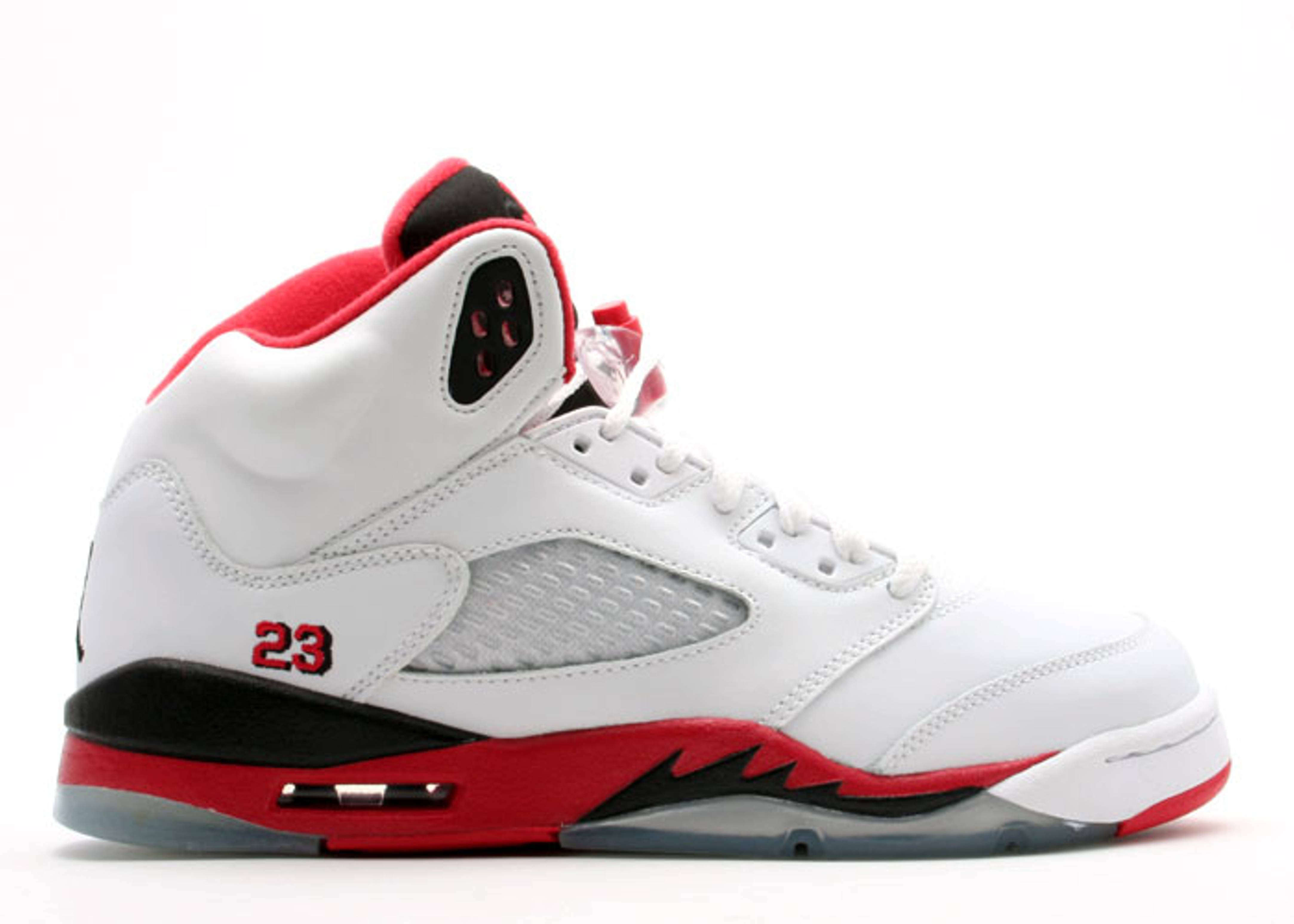 air jordan 5 retro gs white fire red black. Black Bedroom Furniture Sets. Home Design Ideas