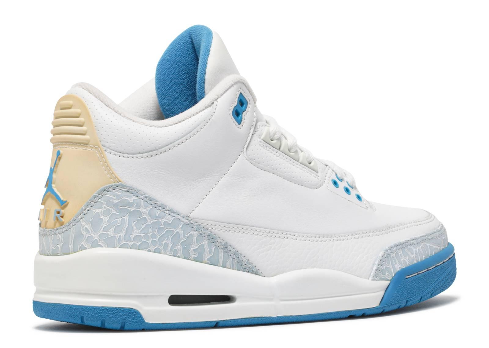 Womens Air Jordan 3 Retro - Air Jordan - 315296 142 - white harbor ... a649772f89