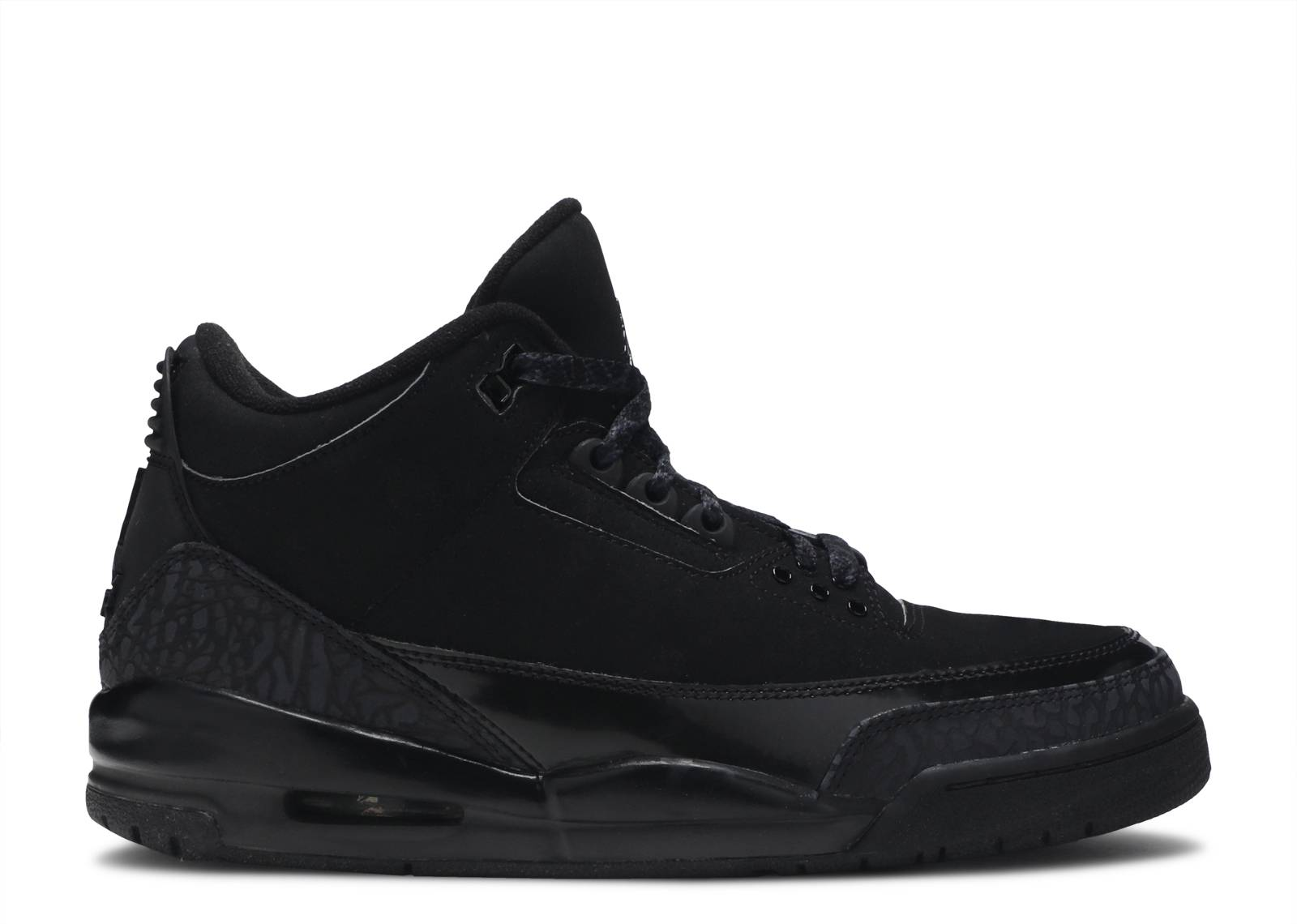 all black air jordan 3s