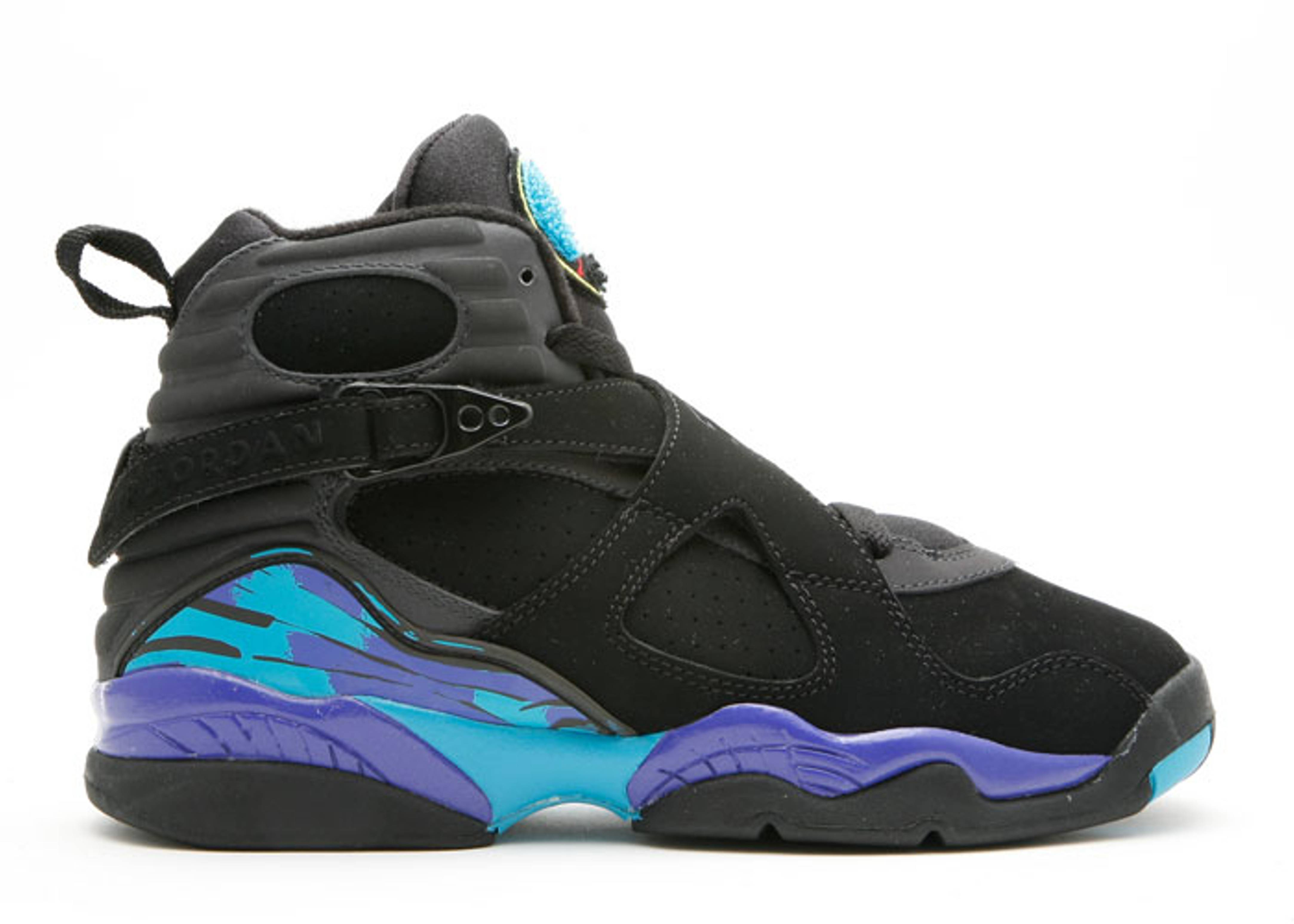 "air jordan 8 retro (gs) ""aqua"""