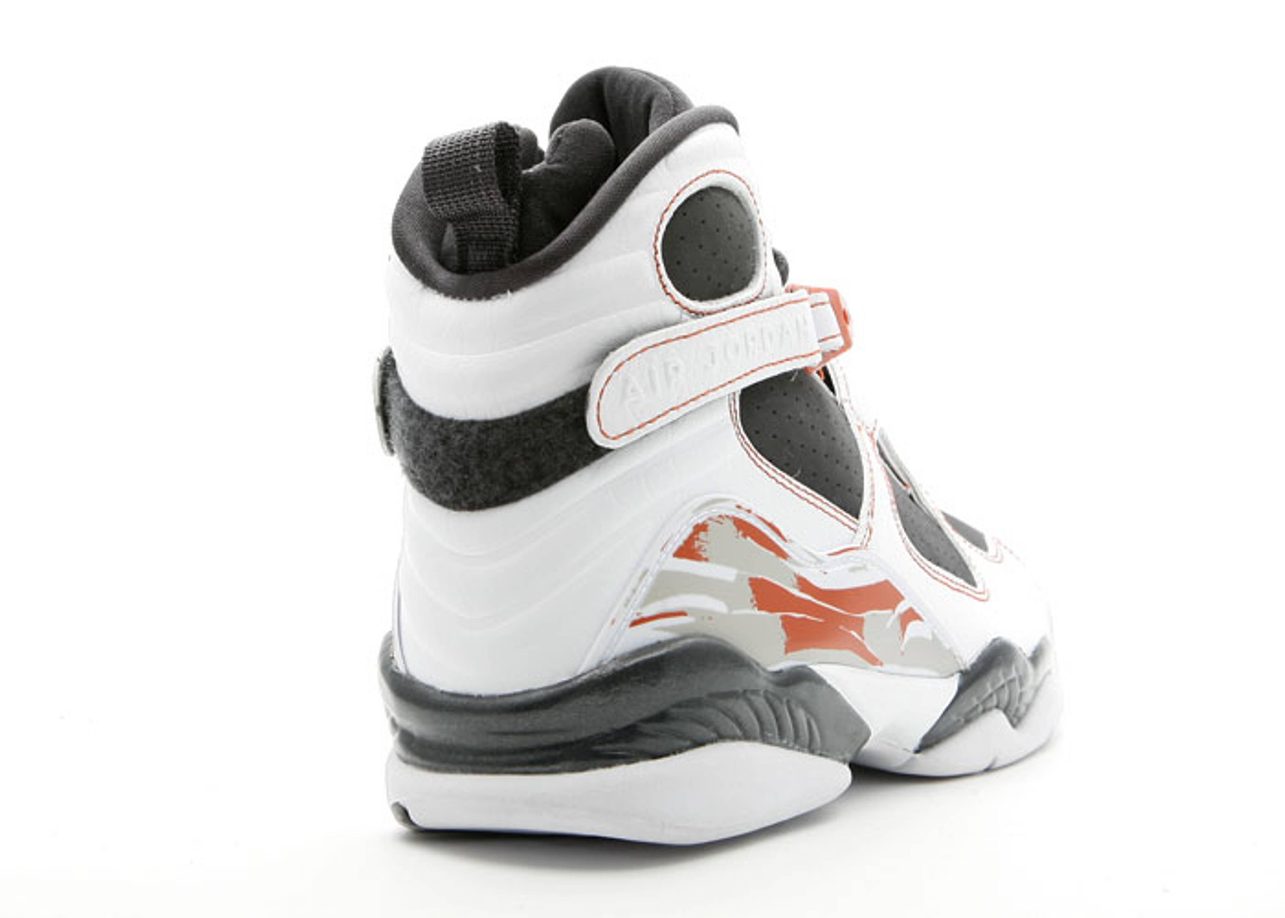 Mens Nike Air Jordan retro VIII 8 LS 2007 White Orange Antracite 317258-104 VI