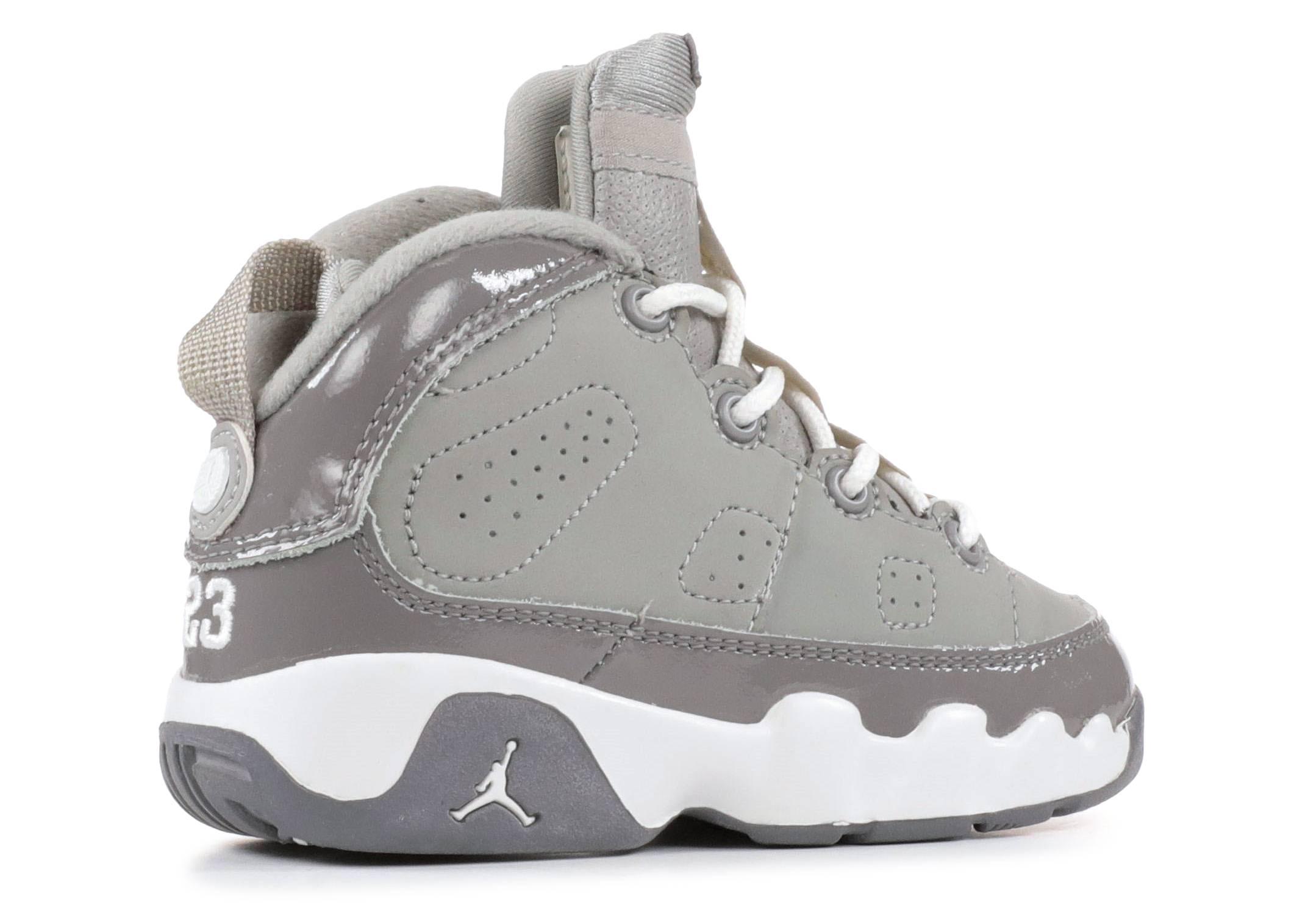 a5ff96fbe14f Baby Jordan 9 Retro Infant - Air Jordan - 302354 011 - medium grey white-cool  grey