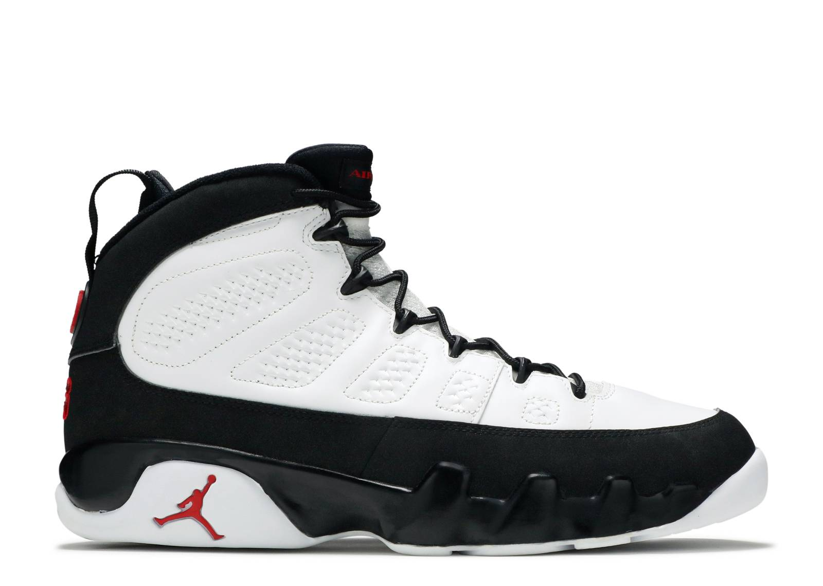 air jordan retro 9 white black true red