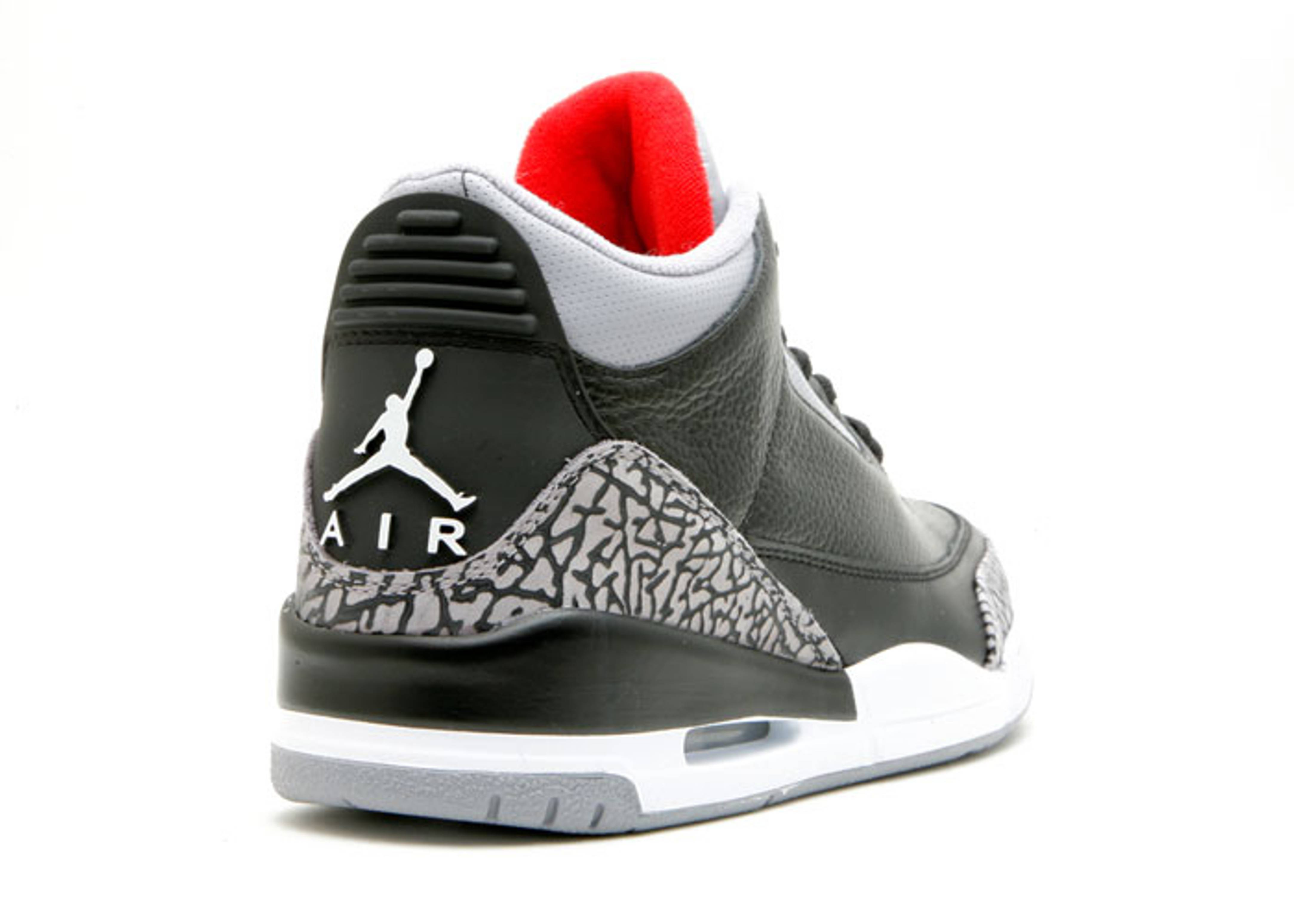 best sneakers 7b052 44292 ... air jordan 3 retro Jordan 3 Retro Black Cement Grey Countdown Pack ...