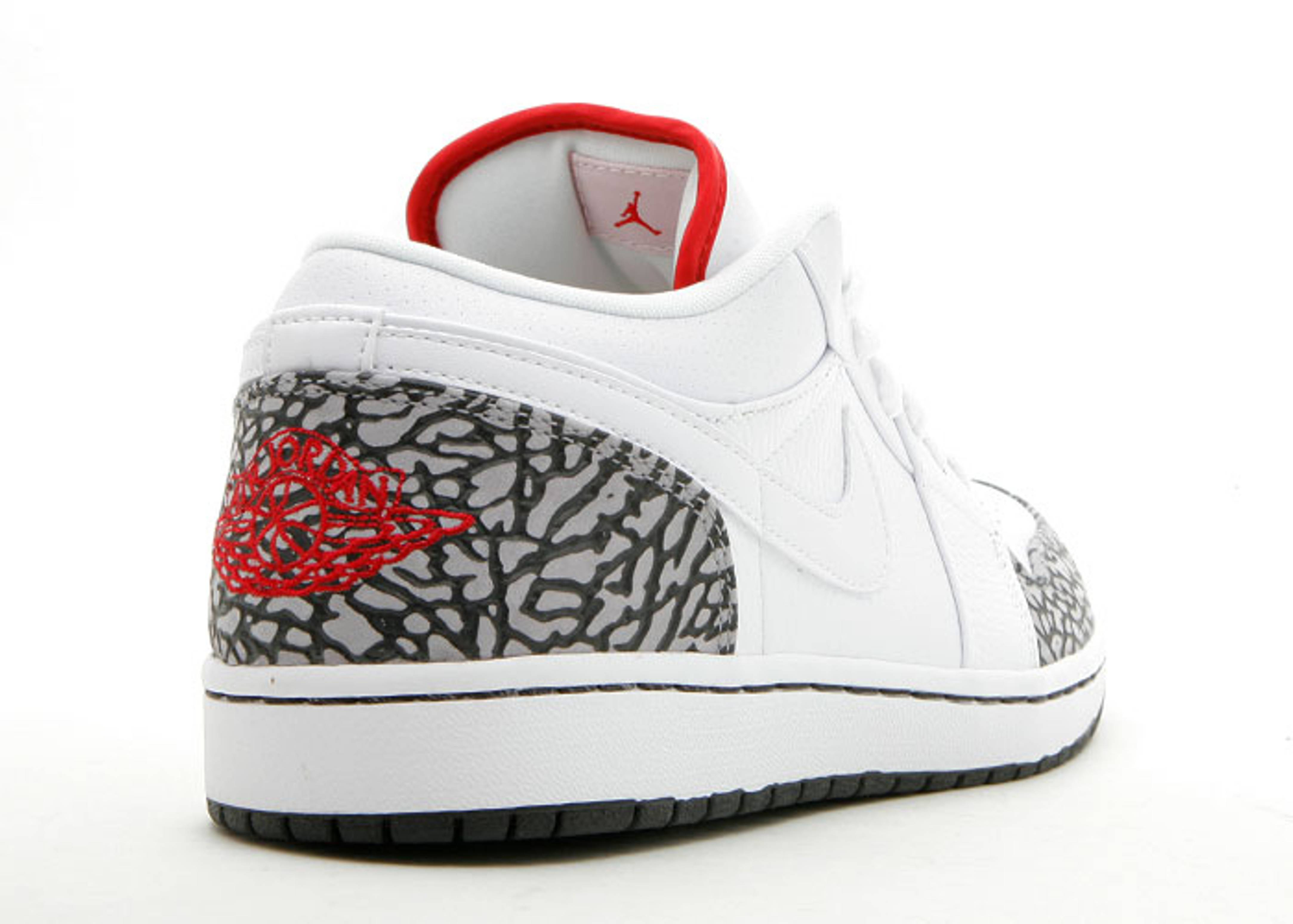 Air Jordan 1 Phat Low - Air Jordan - 350571 161 - white varsity red-black-cement  grey  0524f2d360
