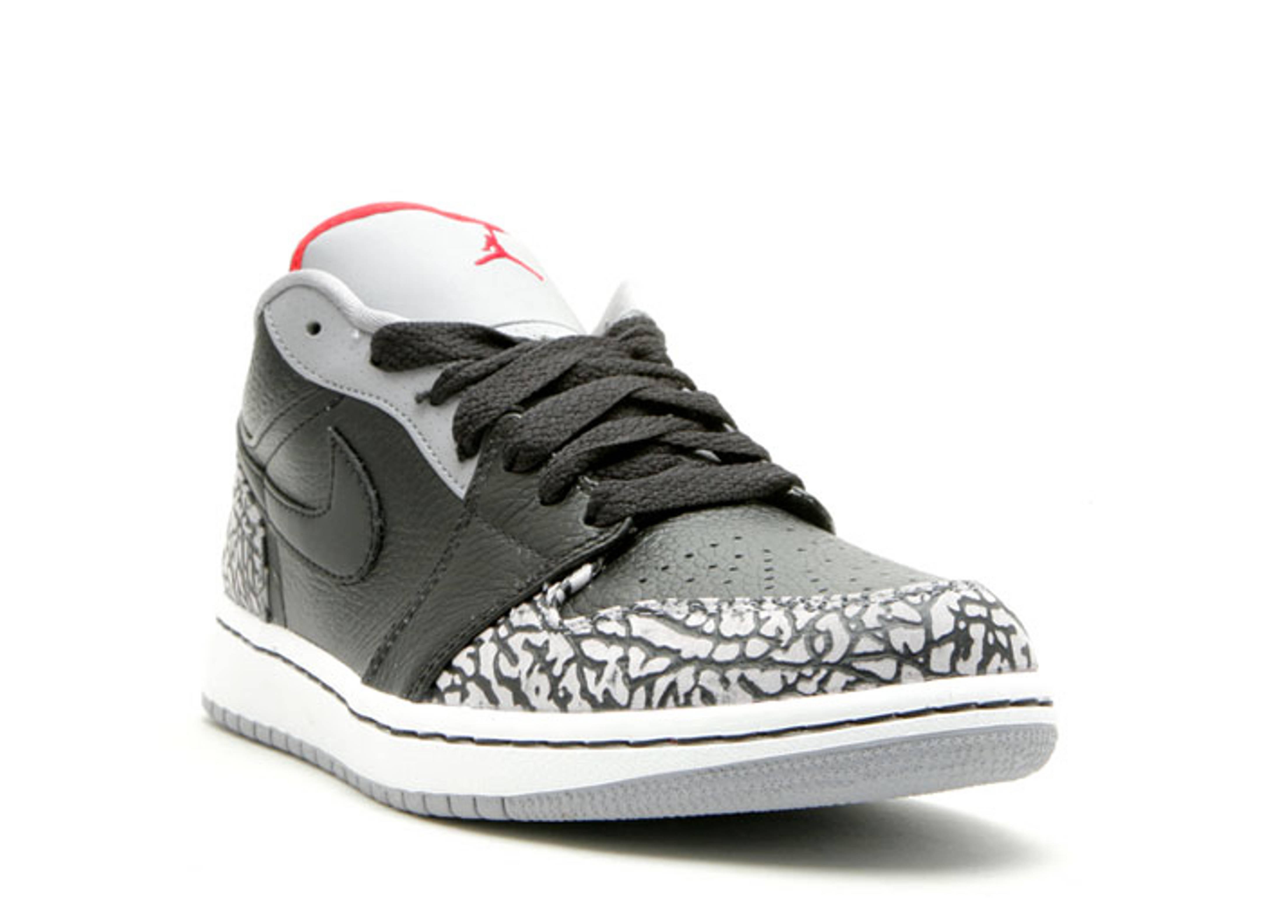 Air Jordan 1 Phat Low - Air Jordan - 350571 061 - black varsity red-white-cement  grey  7818557d3f