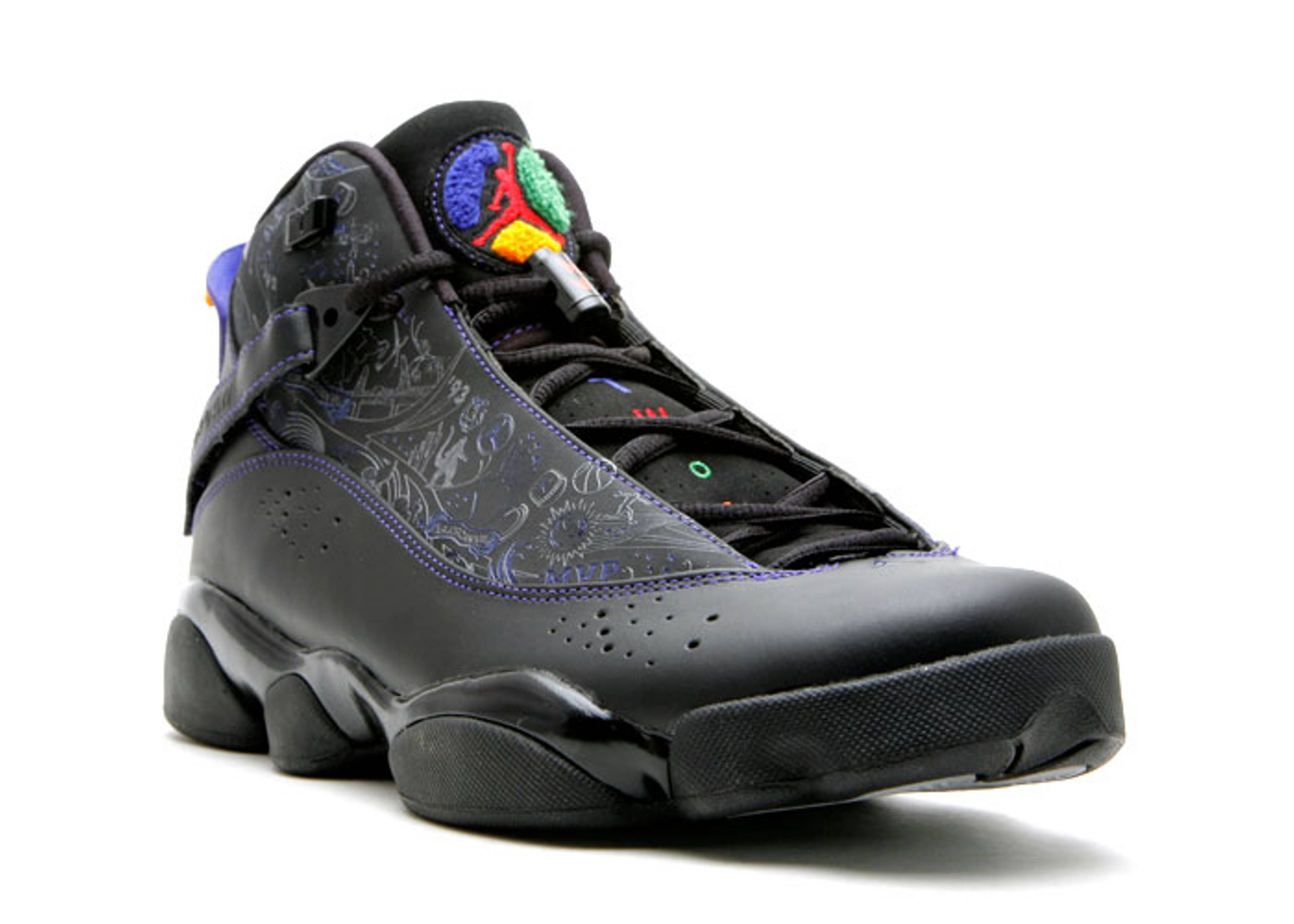 b7d5f5f1489d17 Six Ring Jordans Black And Purple Jordan Six Rings Grey