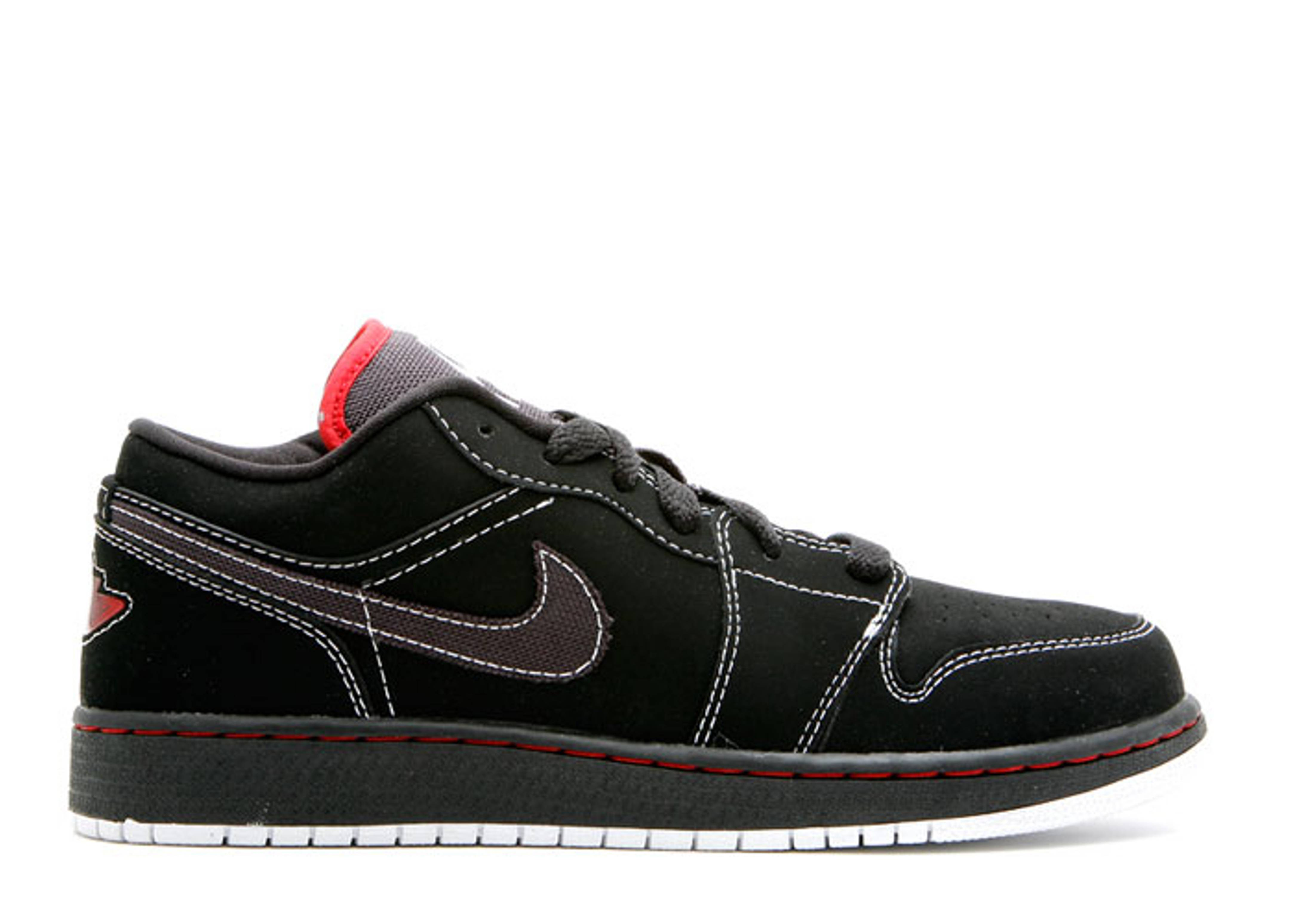 Air Jordan 1 Phat Low (gs) - Jordan - 338146 011 - black white-varsity red   54506035f