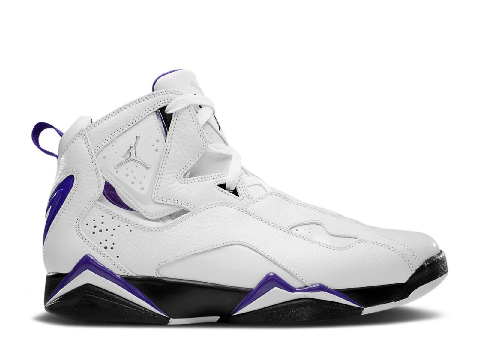 98756a06abf98a air jordan true flight white metallic silver black varsity purple 342964 101