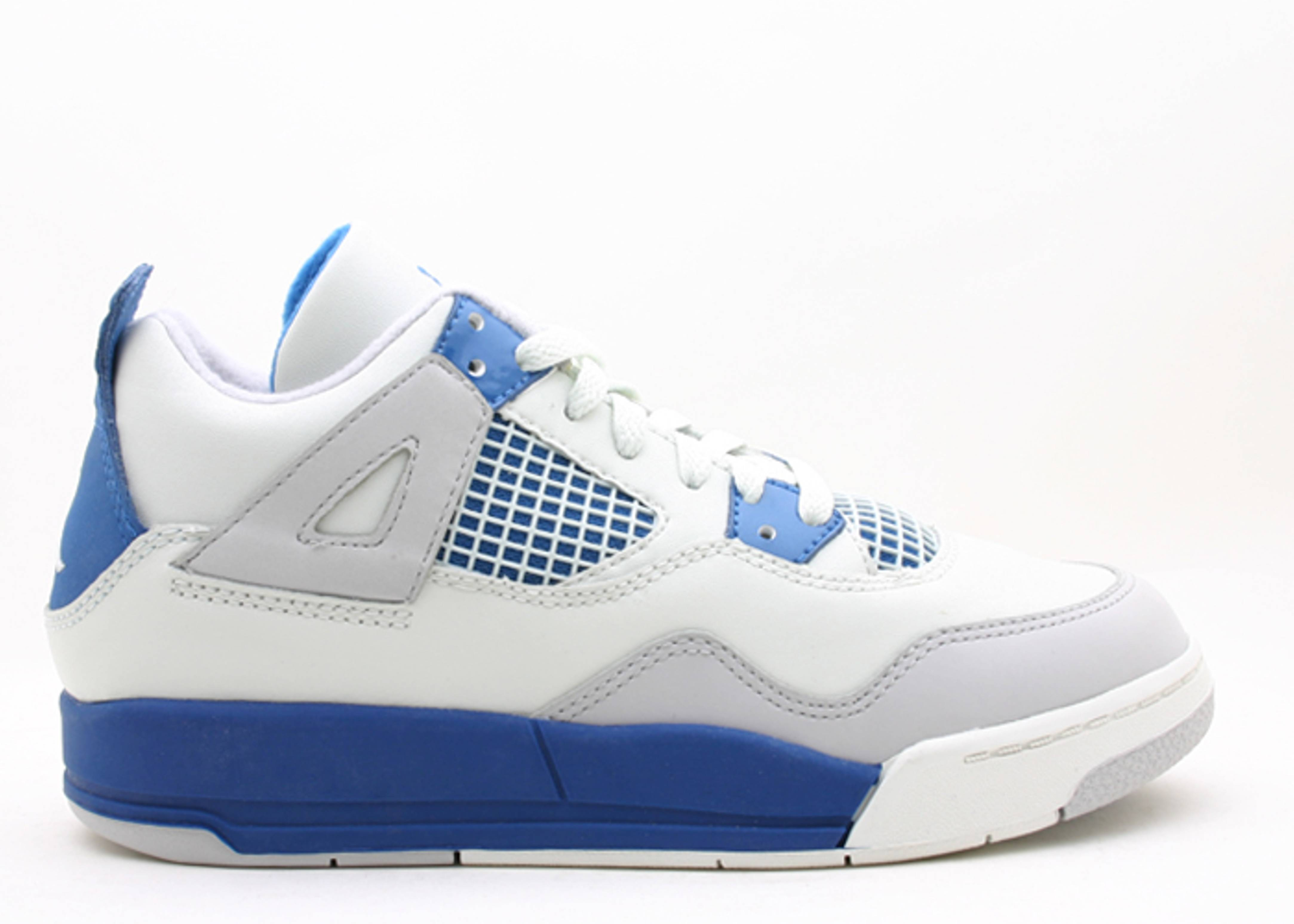 online store 59409 a1531 4 Retro (ps) - Air Jordan - 308499 141 - off white  military blue-n ...