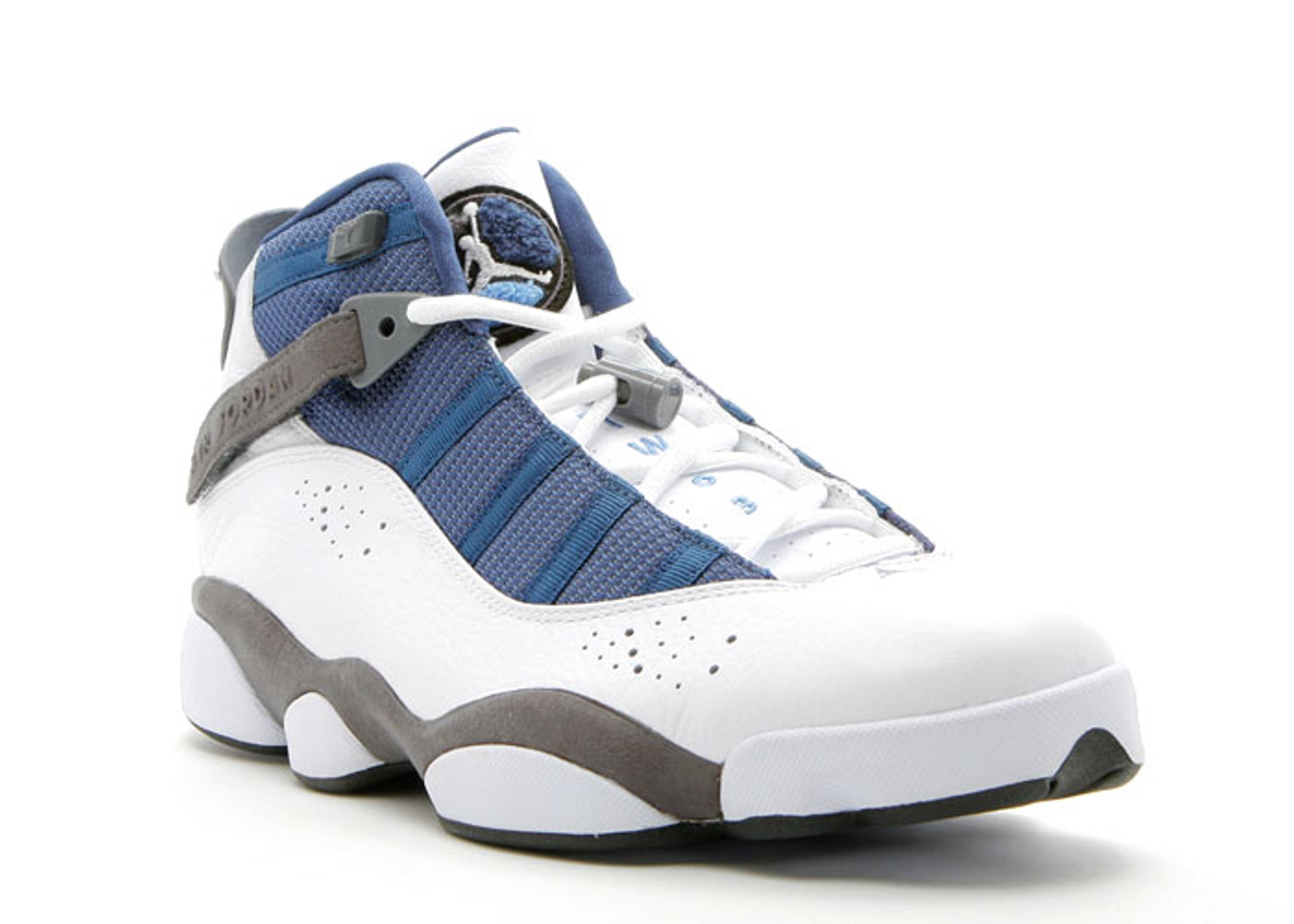 1c3bae1aa90bd0 Air Jordan 6 Rings White Flint Grey French Blue 322992-141 . air jordan.