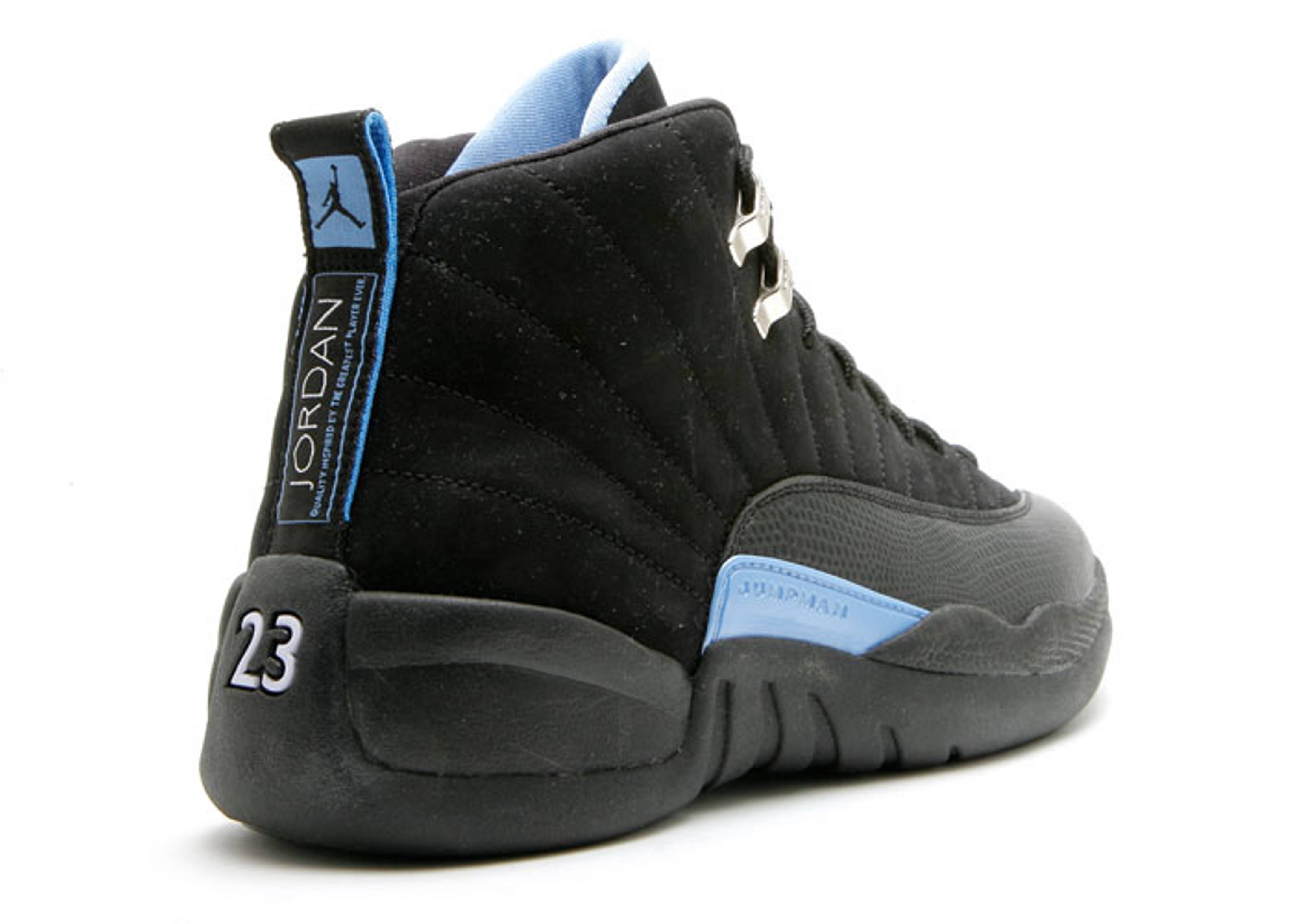 sale air jordan 12 university blue black 9da18 44e05 efcf16d72