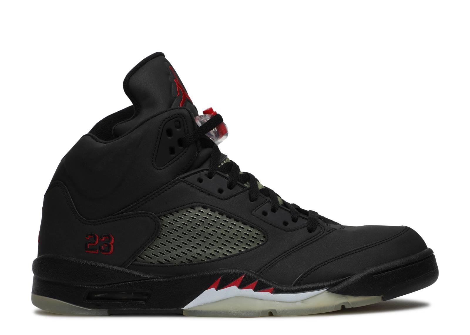 black air jordan 5