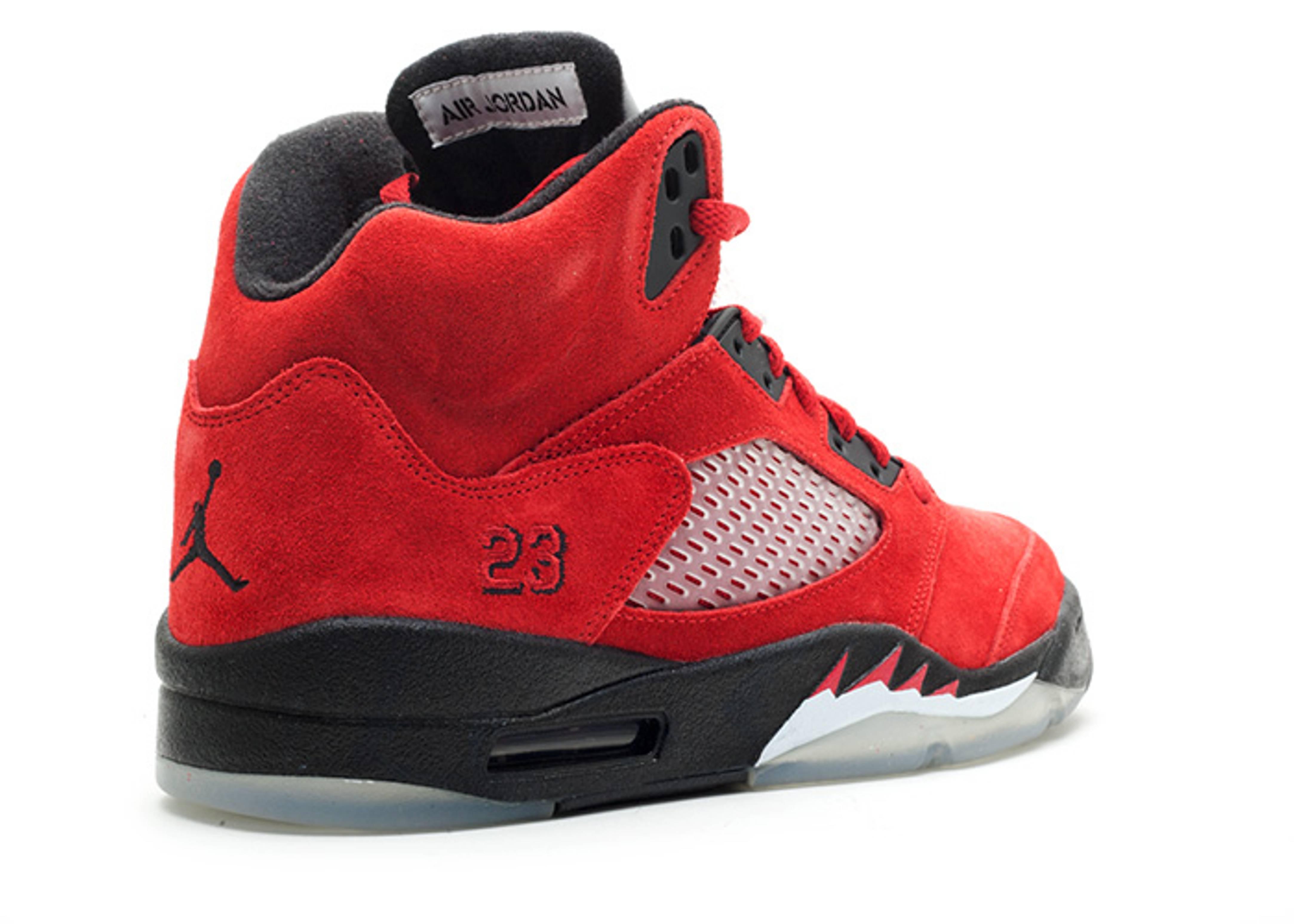 Air Jordan 5 Retro Raging Bull Red Suede Air Jordan