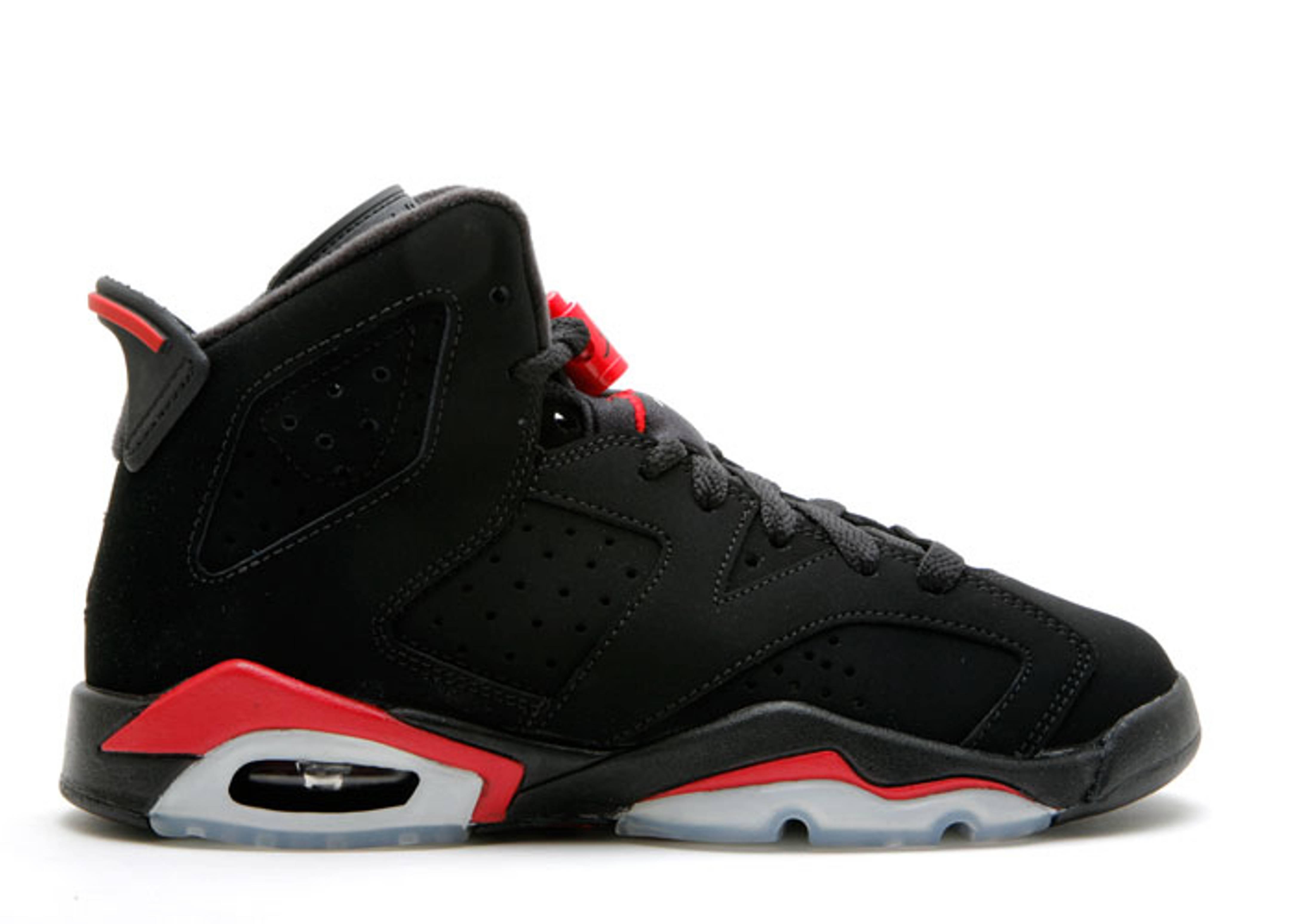 Air Jordan 6 Vi Noir Infrarouge Rétro / Fac-ciment Gris Rouge rabais meilleur GxWFy