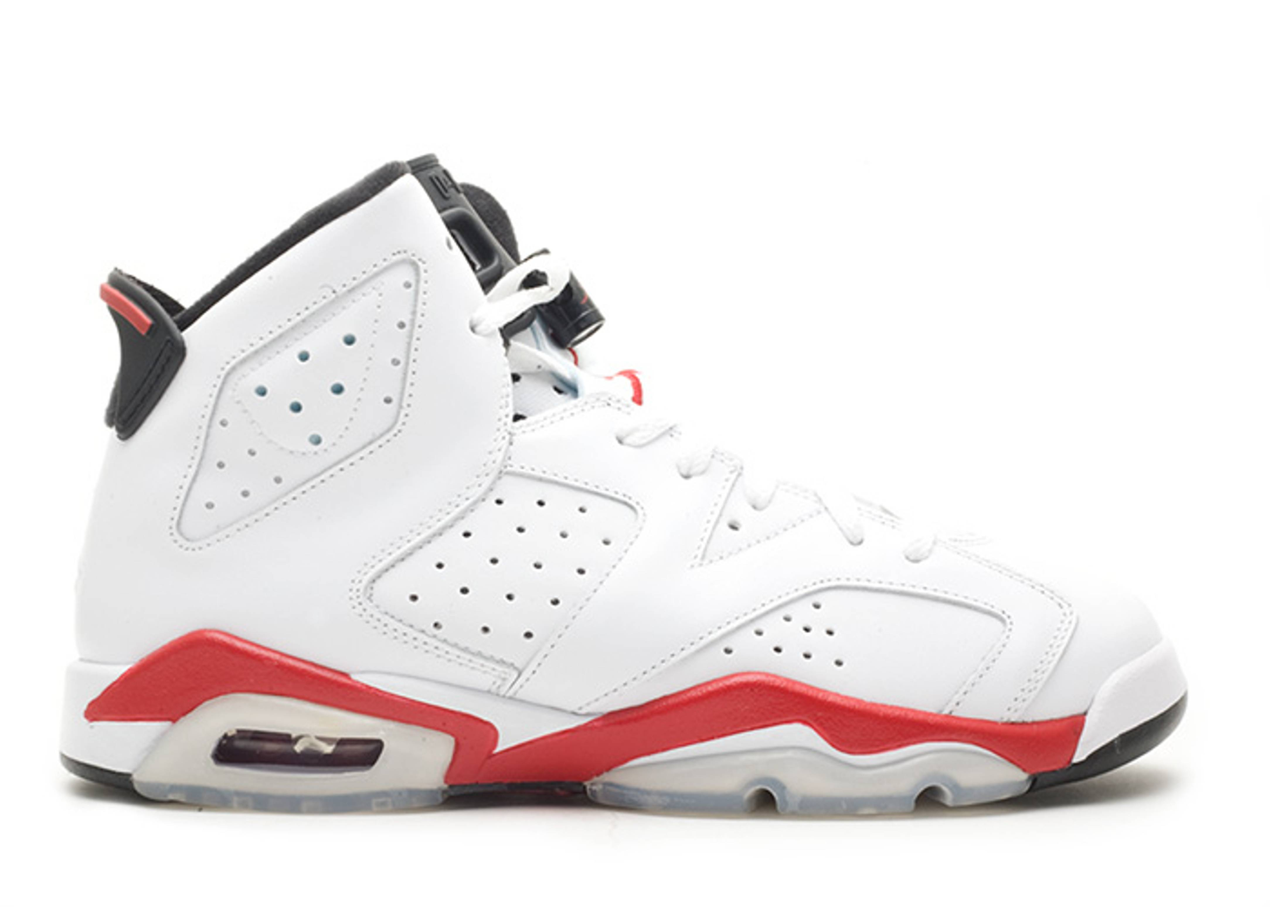 air jordan retro 6s red and white