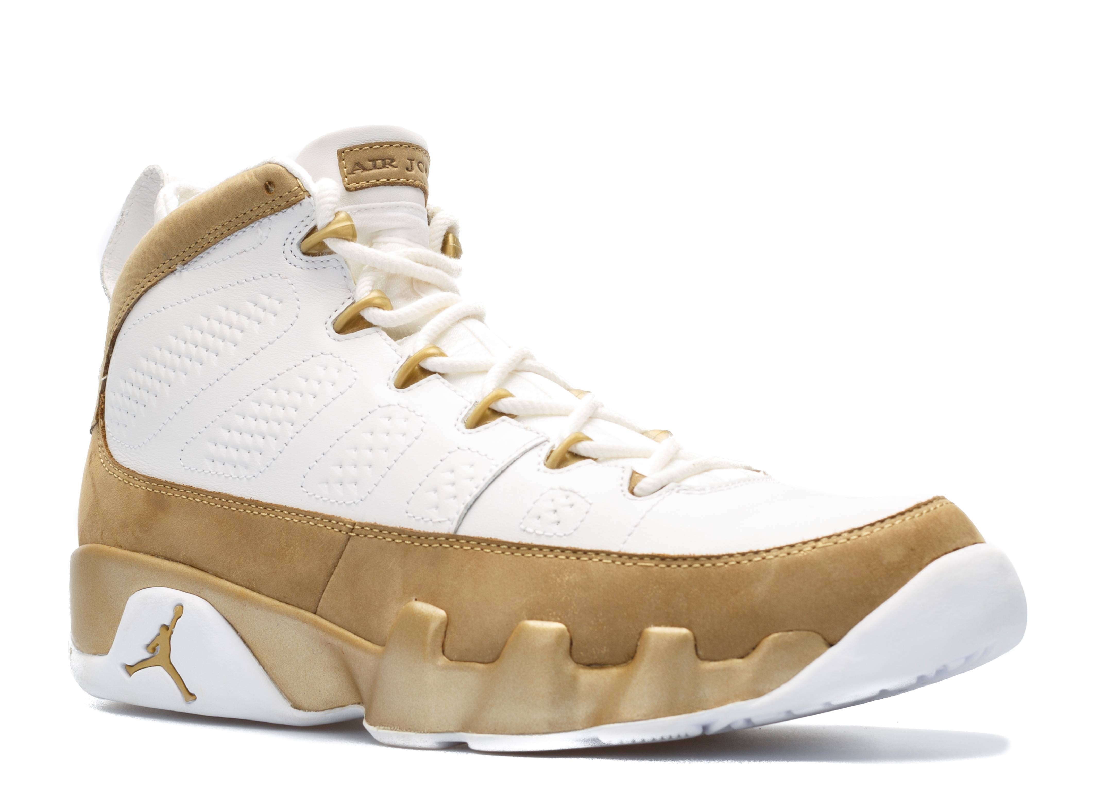 79cc207f885ded white and gold jordan 9