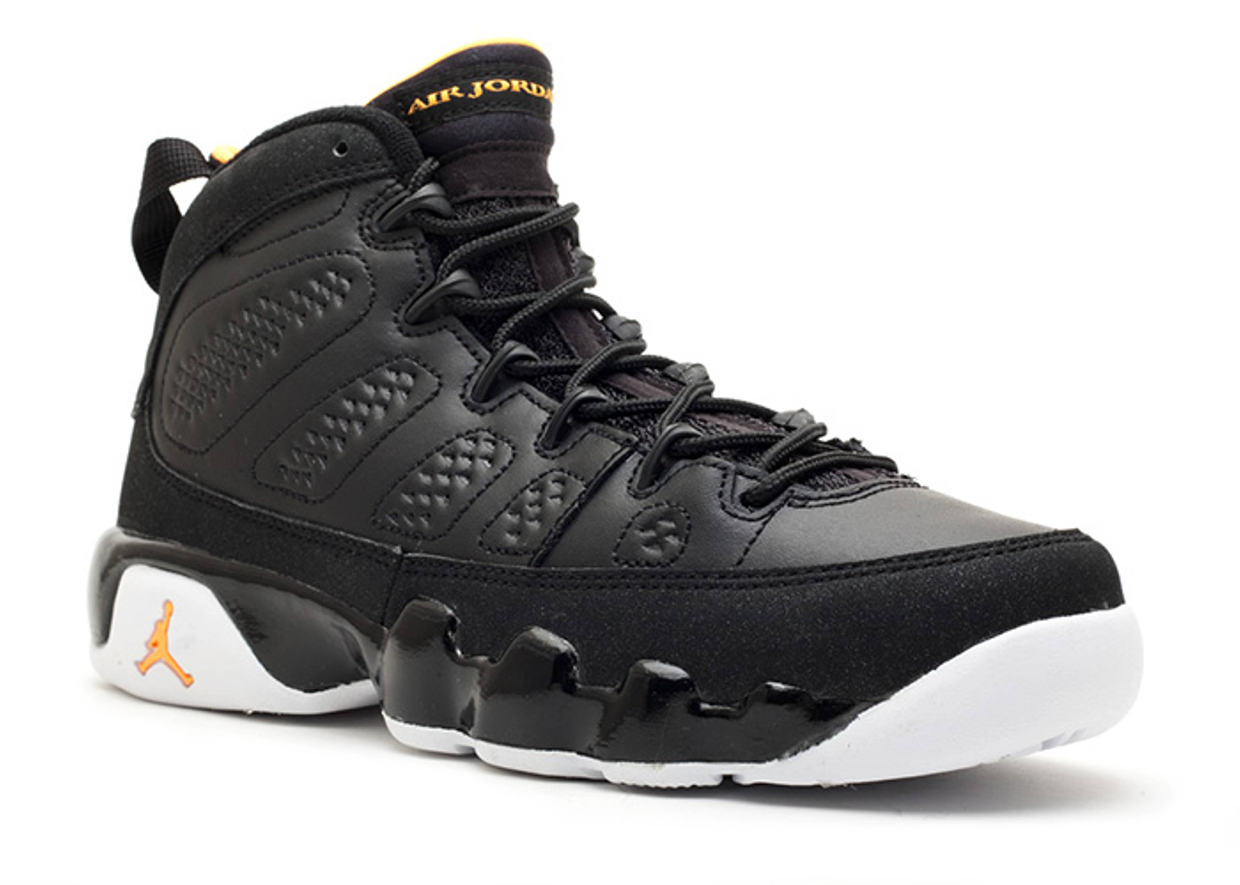 online store af252 c1e99 Air Jordan 9 Retro (gs) - Air Jordan - 302359 004 - black citrus-white    Flight Club