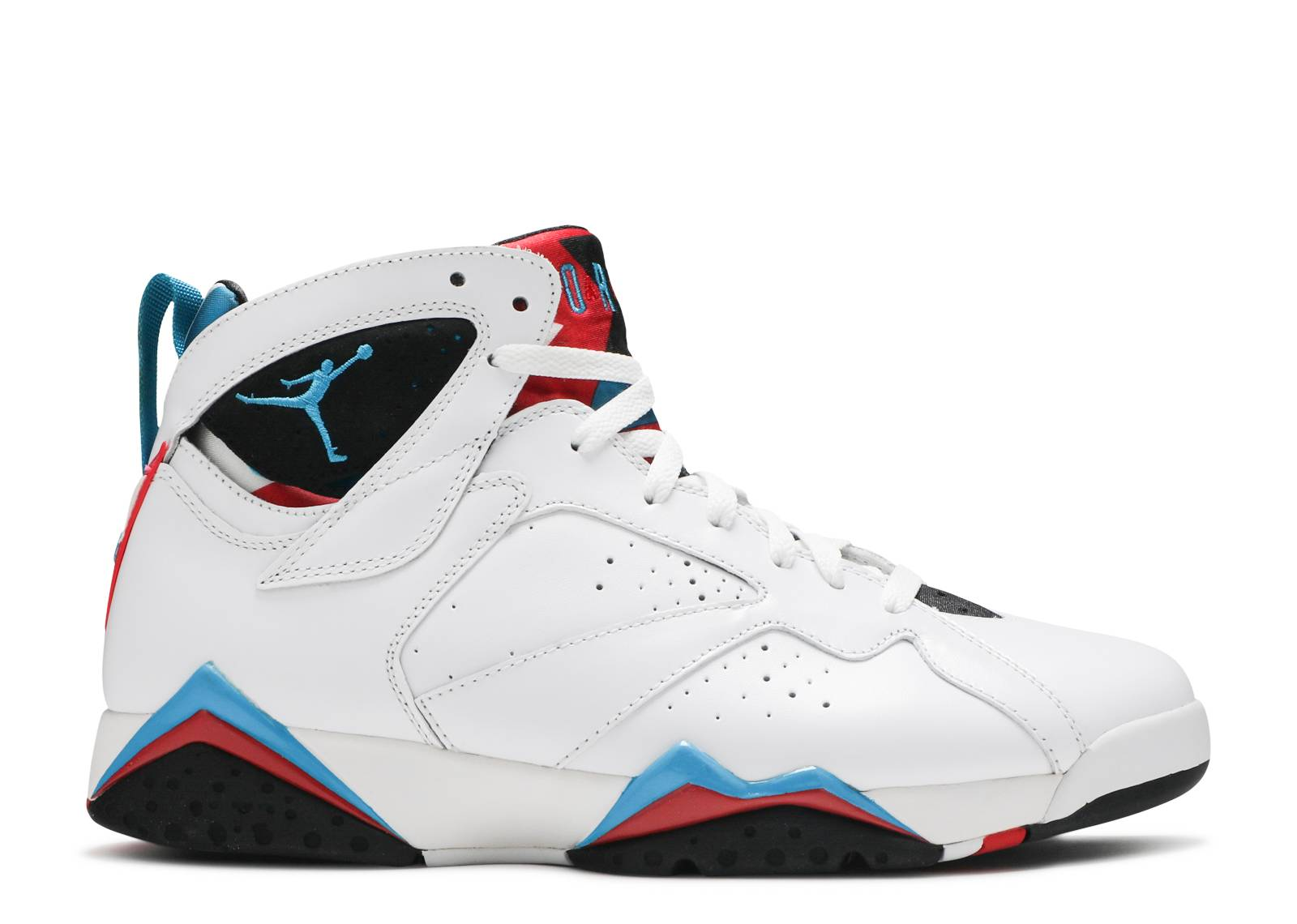 Womens Jordan 7 White/Blue-Black-InfraredShoes_a3225