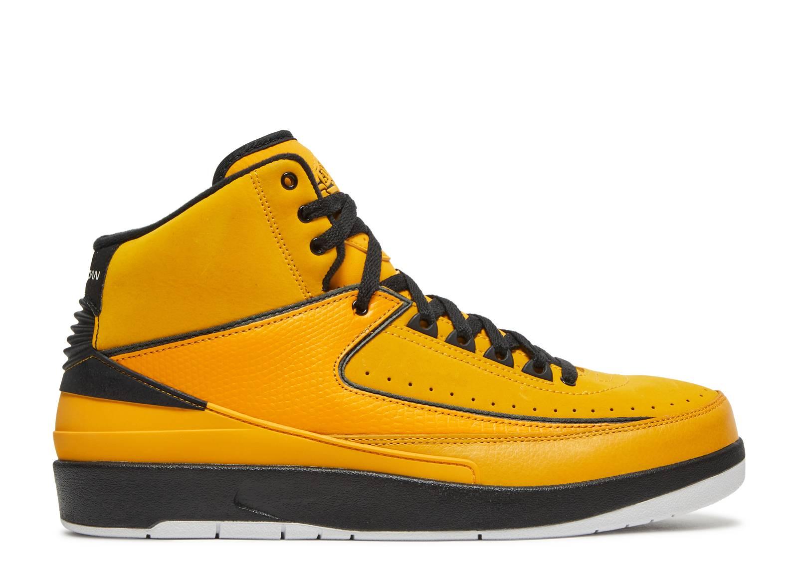 air jordan 2 black and yellow