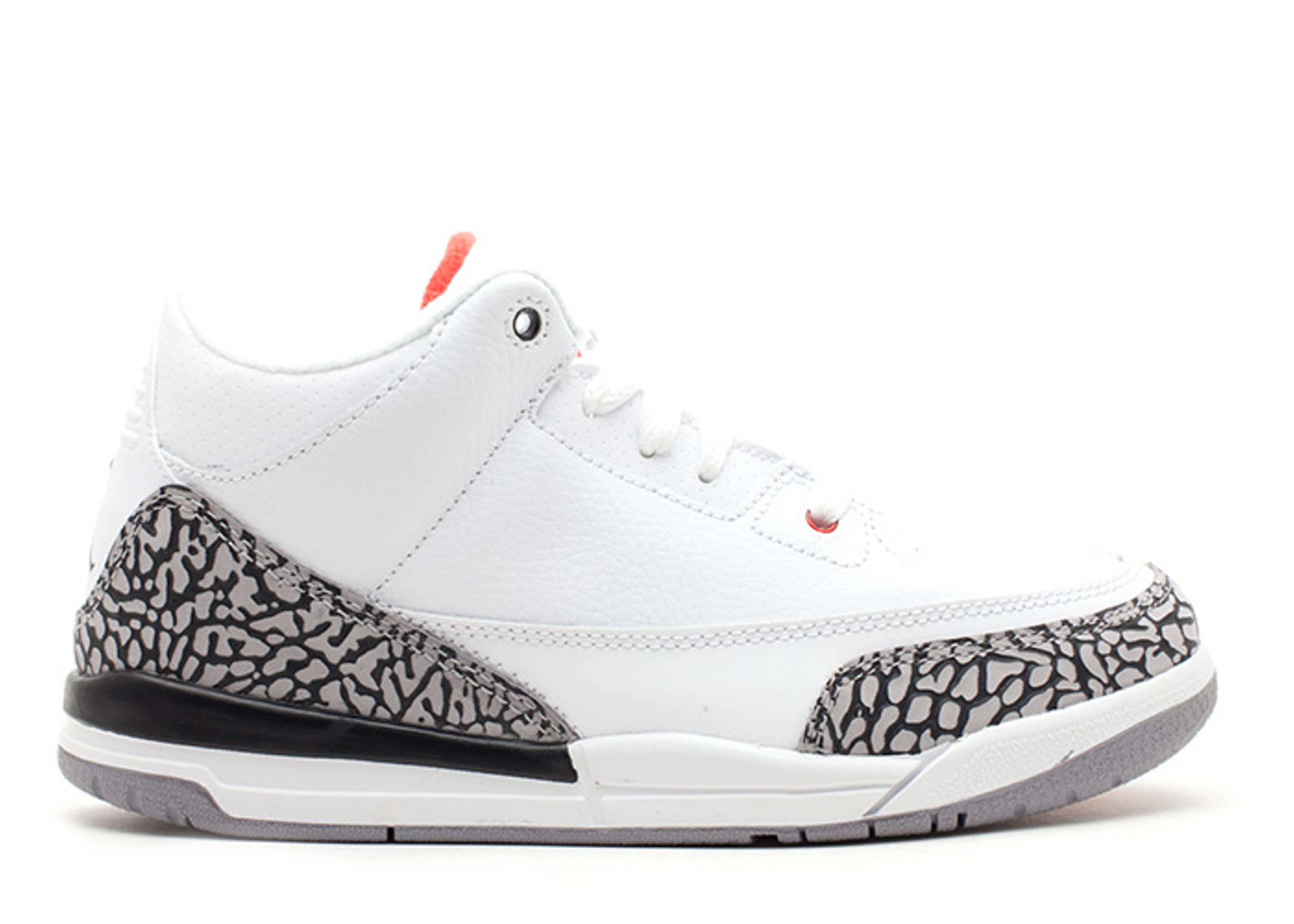 Air Jordan 3 Retro (ps) - Air Jordan - 429487 105 - white fire red-cement  grey-black  d831a3d7d