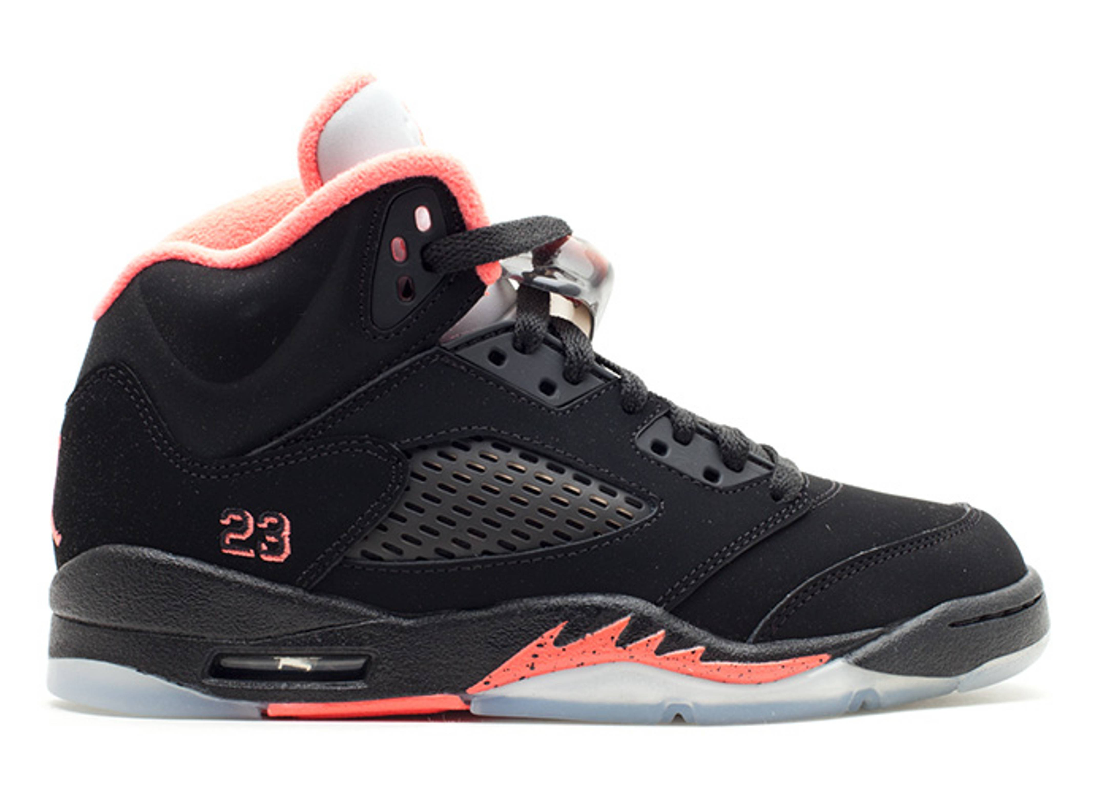 b8d5f63b5d09ea Girls Air Jordan 5 Retro (gs) - Air Jordan - 440892 001 - black ...