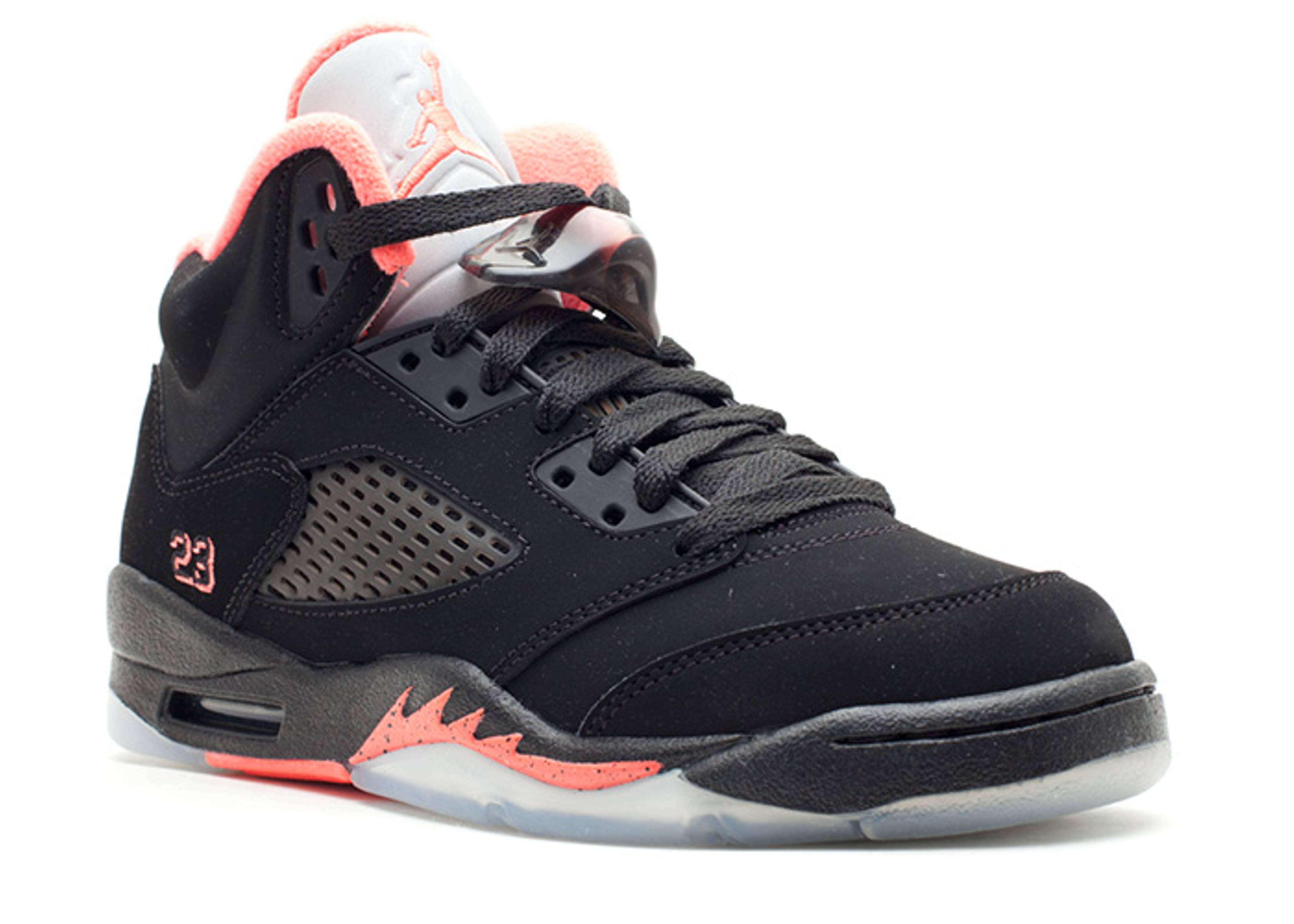 wholesale dealer 6967f 8af0e Girls Air Jordan 5 Retro (gs) - Air Jordan - 440892 001 - black alarming    Flight Club