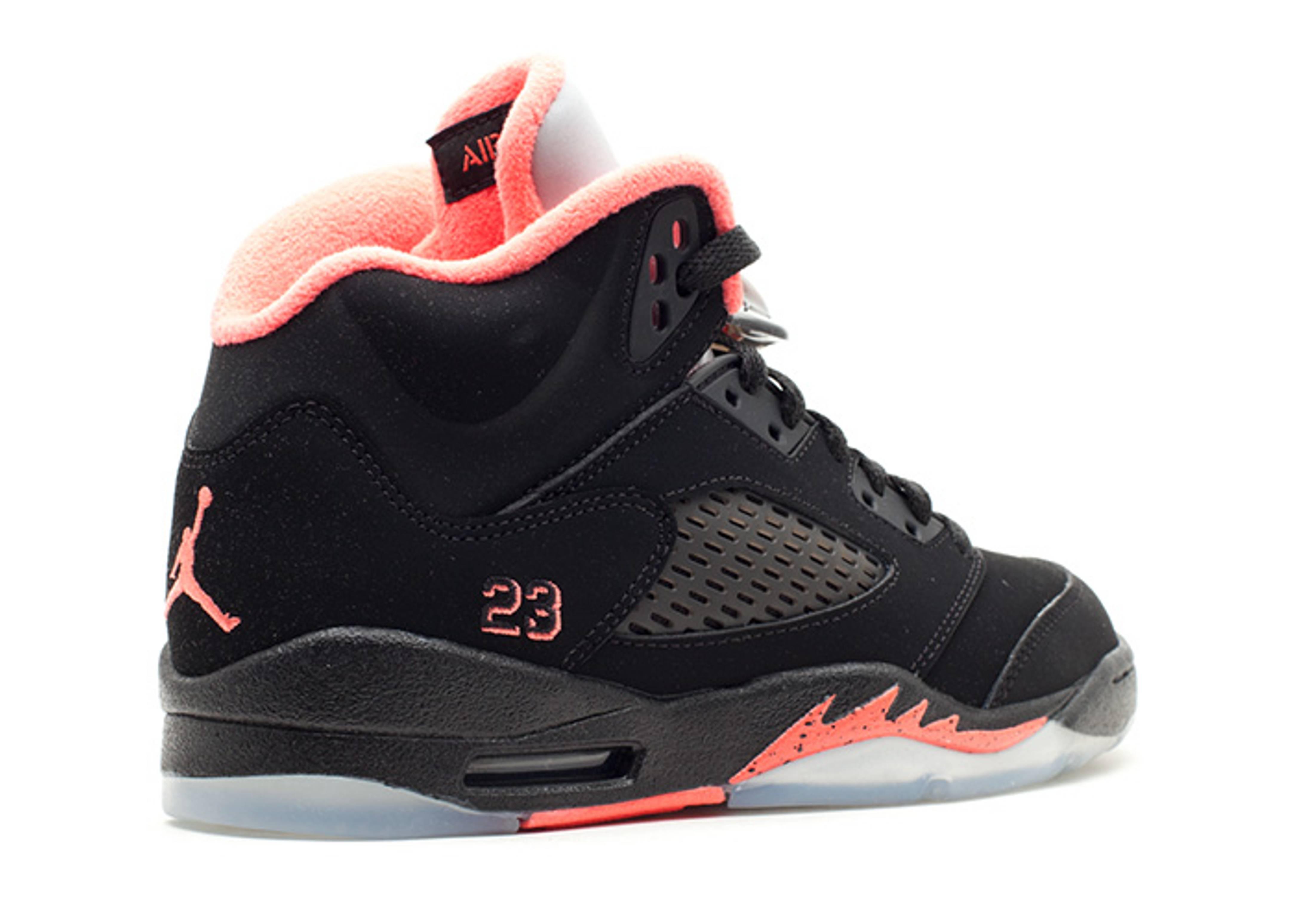 3ccb76fadbc Girls Air Jordan 5 Retro (gs) - Air Jordan - 440892 001 - black/alarming    Flight Club