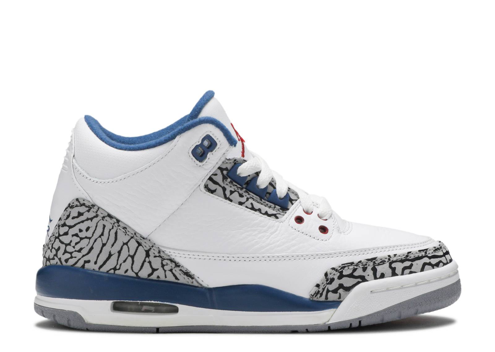 "air jordan 3 retro (gs) ""true blue 2011 release"""