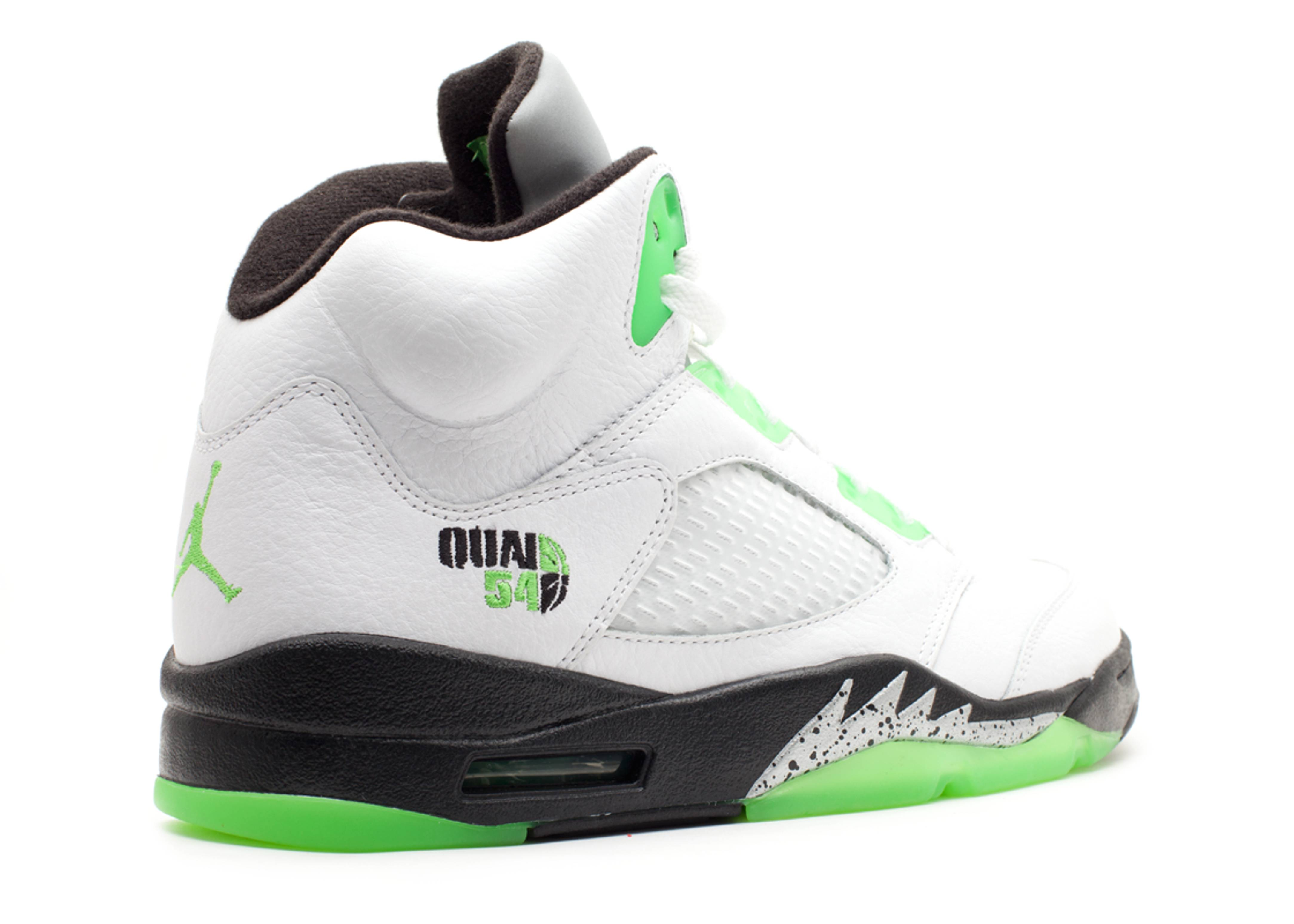 premium selection c0b11 07d1b ... czech air jordan 5 retro q54 quai 54 air jordan 467827 105 white rdnt  grn blk