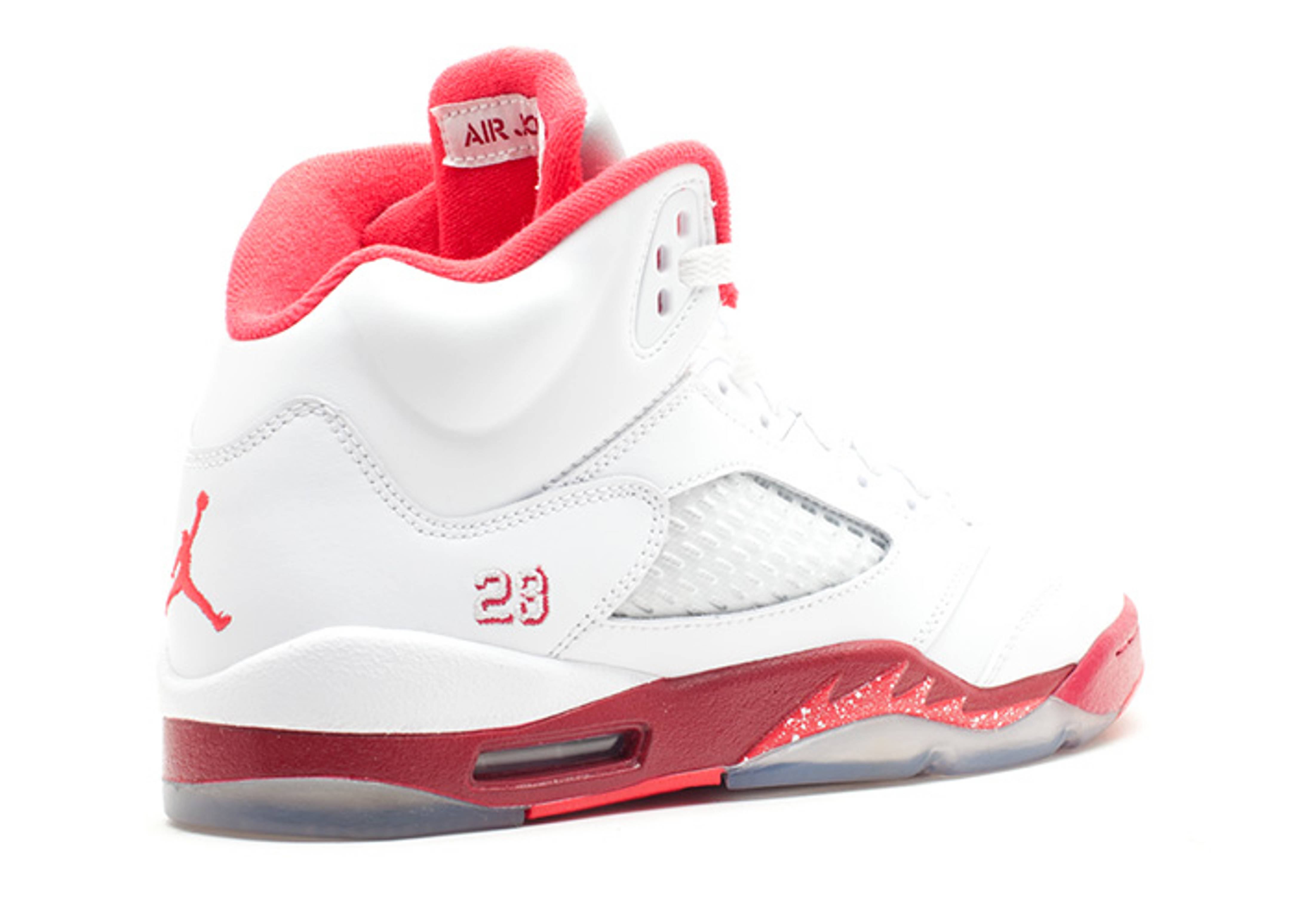 9df64033f417df ... White Legacy Red-Scarlet Fire - New Images girls air jordan 5 retro  (gs) ...