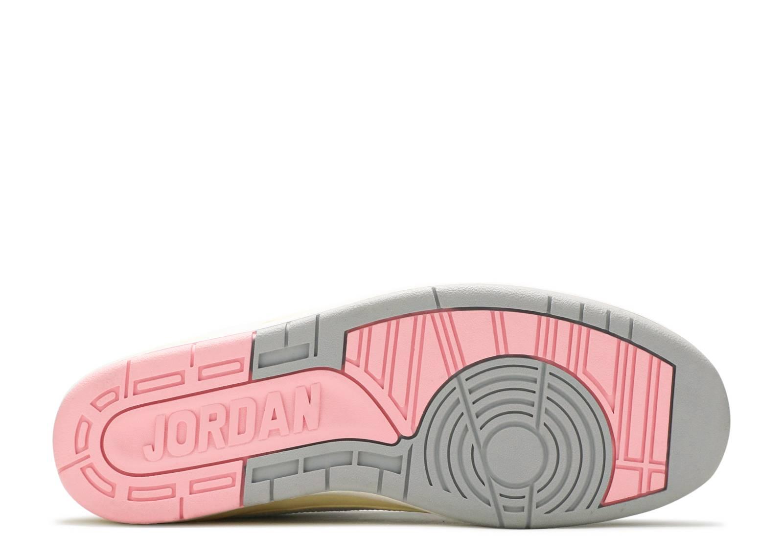 the latest e4776 9b574 W s Air Jordan 2 Retro Low - Air Jordan - 311648 103 - white light steel  grey-rl pink   Flight Club