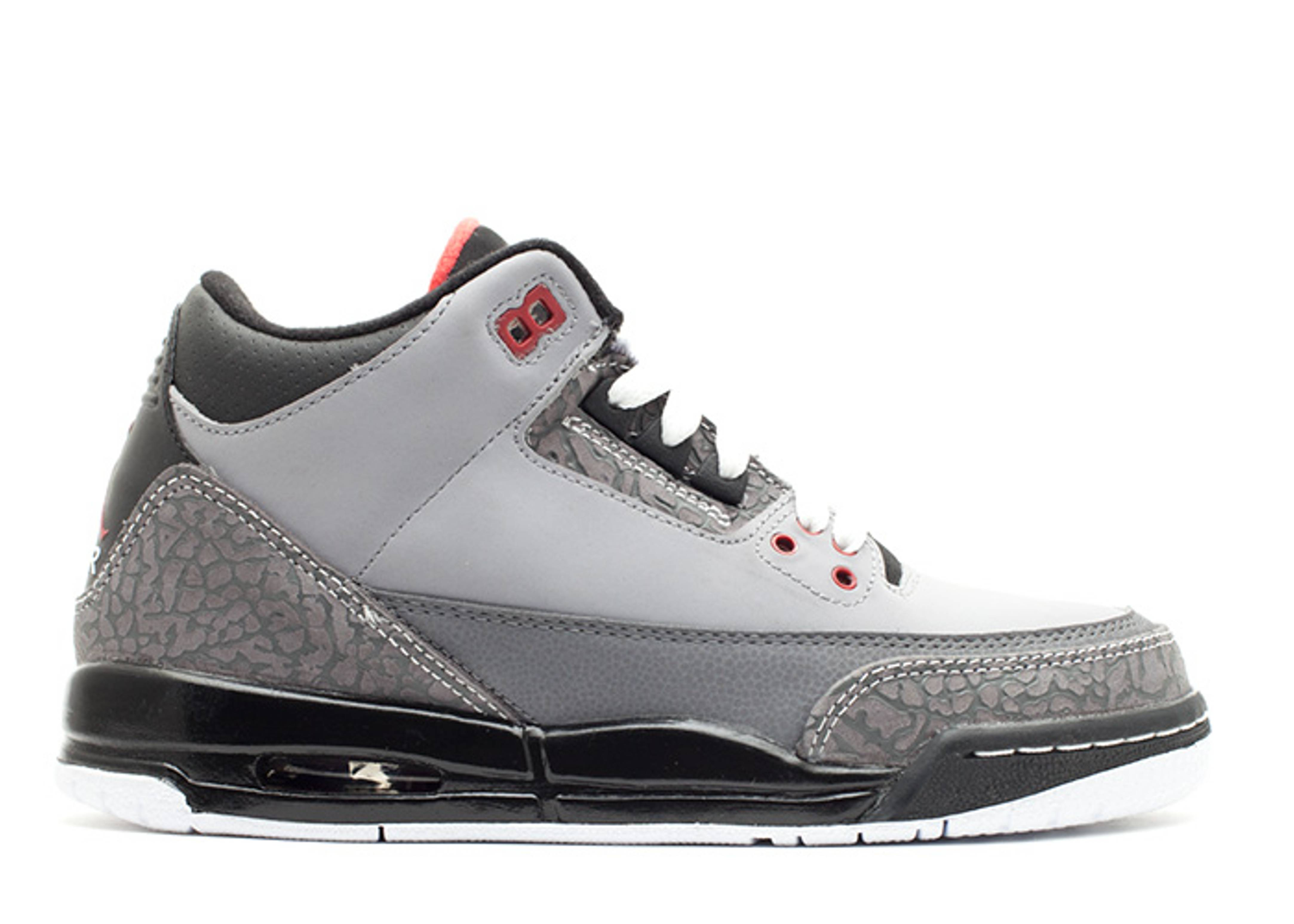 "air jordan 3 retro (gs) ""stealth"""