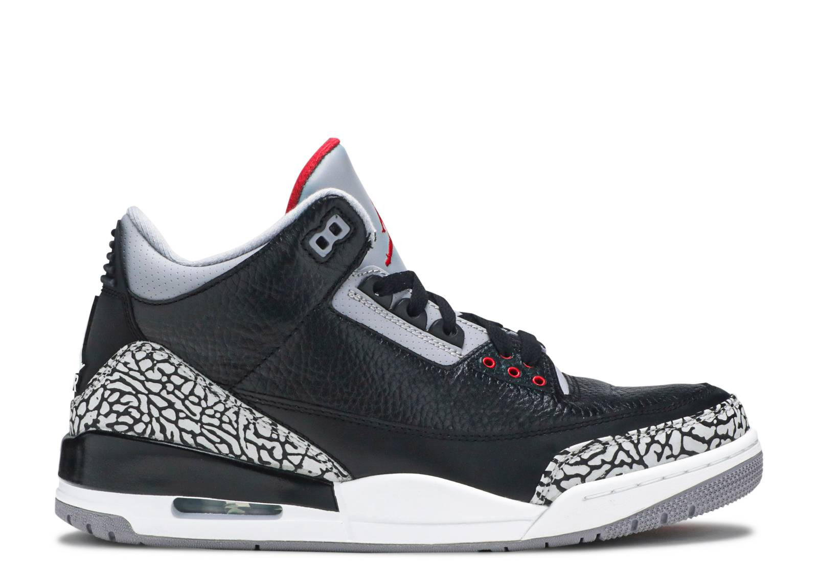 nike air jordan 3 iii retro black cement grey red