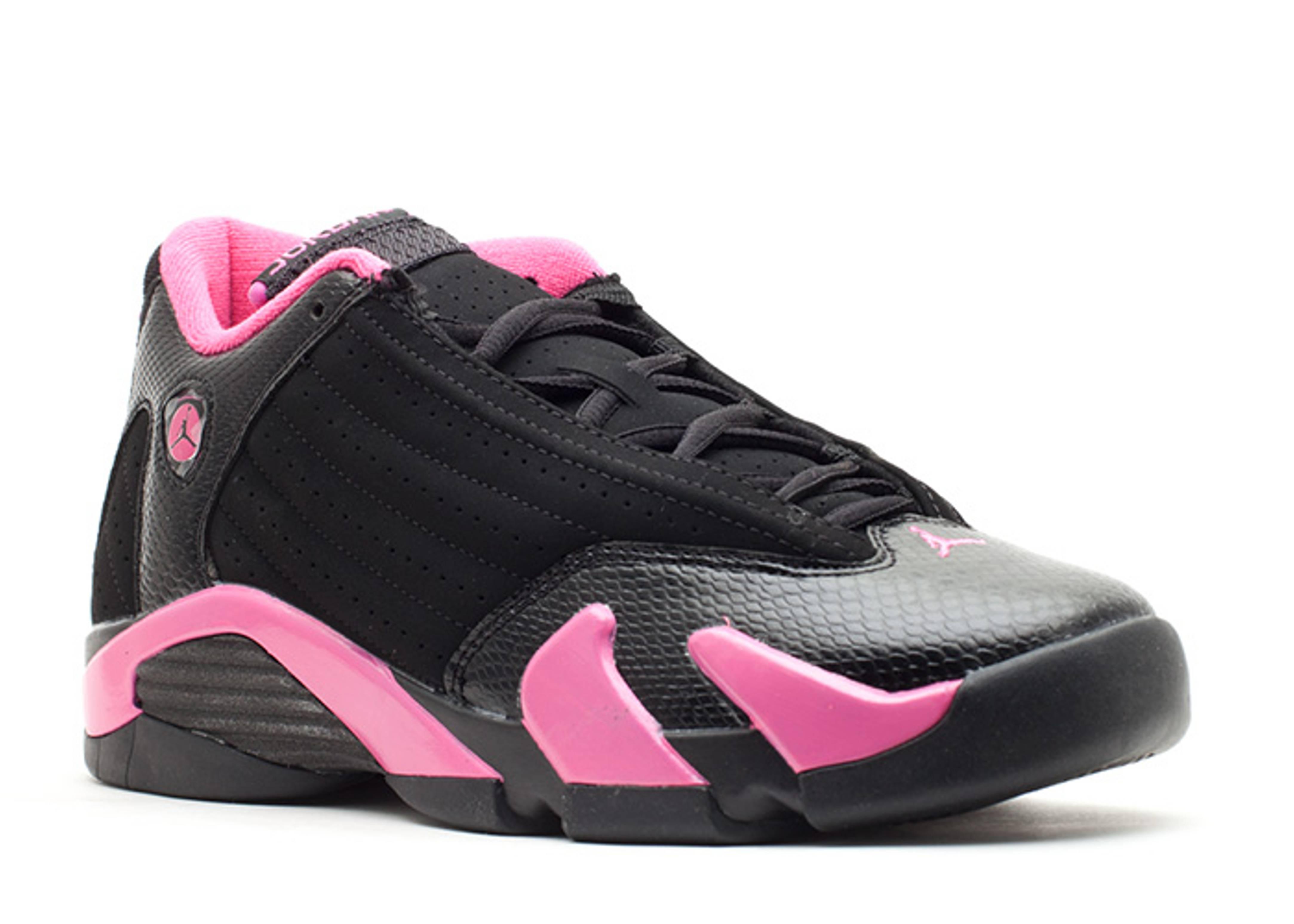 air jordan 14 pink and black