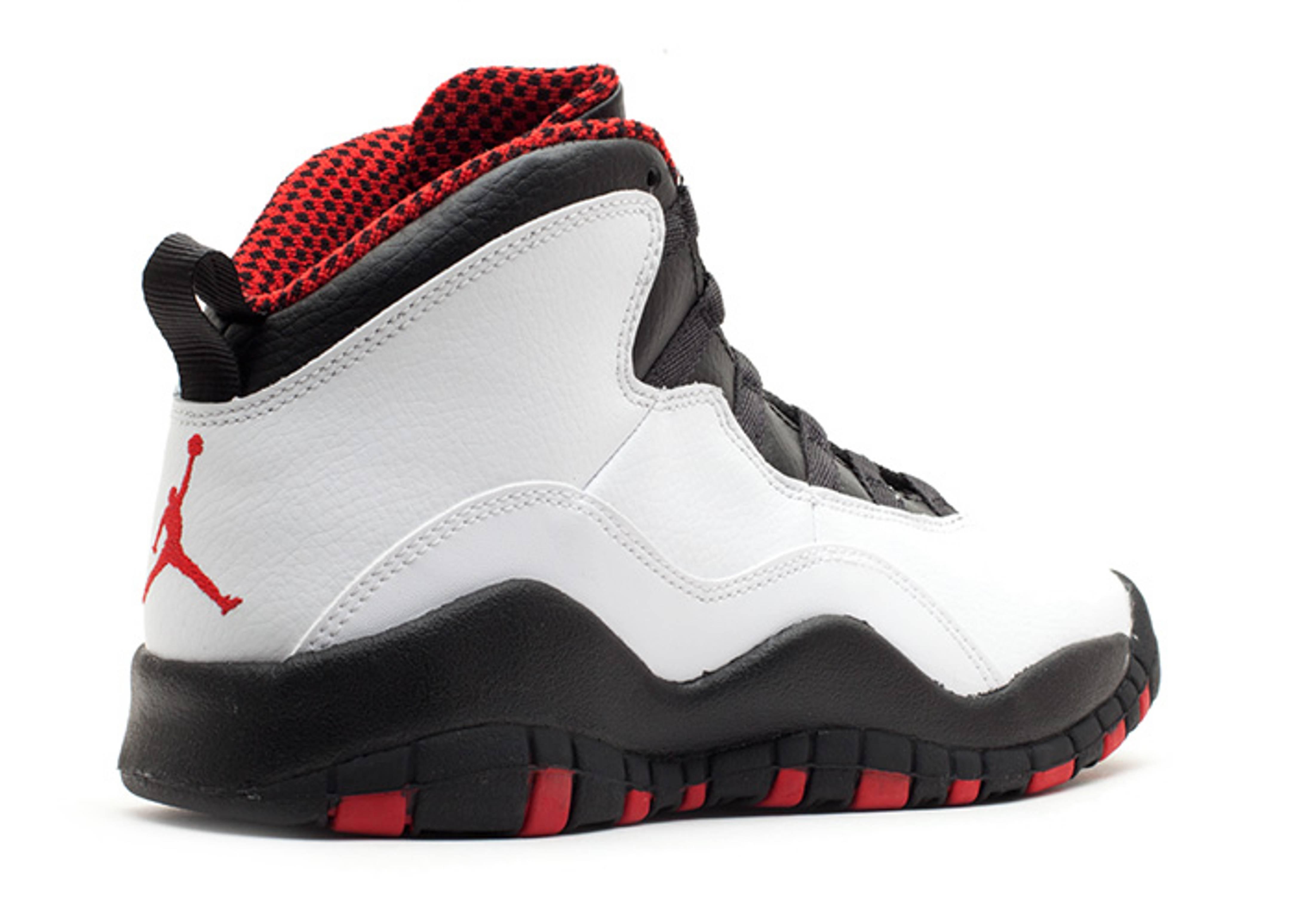 NIKE AIR JORDAN 10 X RETRO GS BG CHICAGO 310806-100 WHITE RED BLACK doble nickel