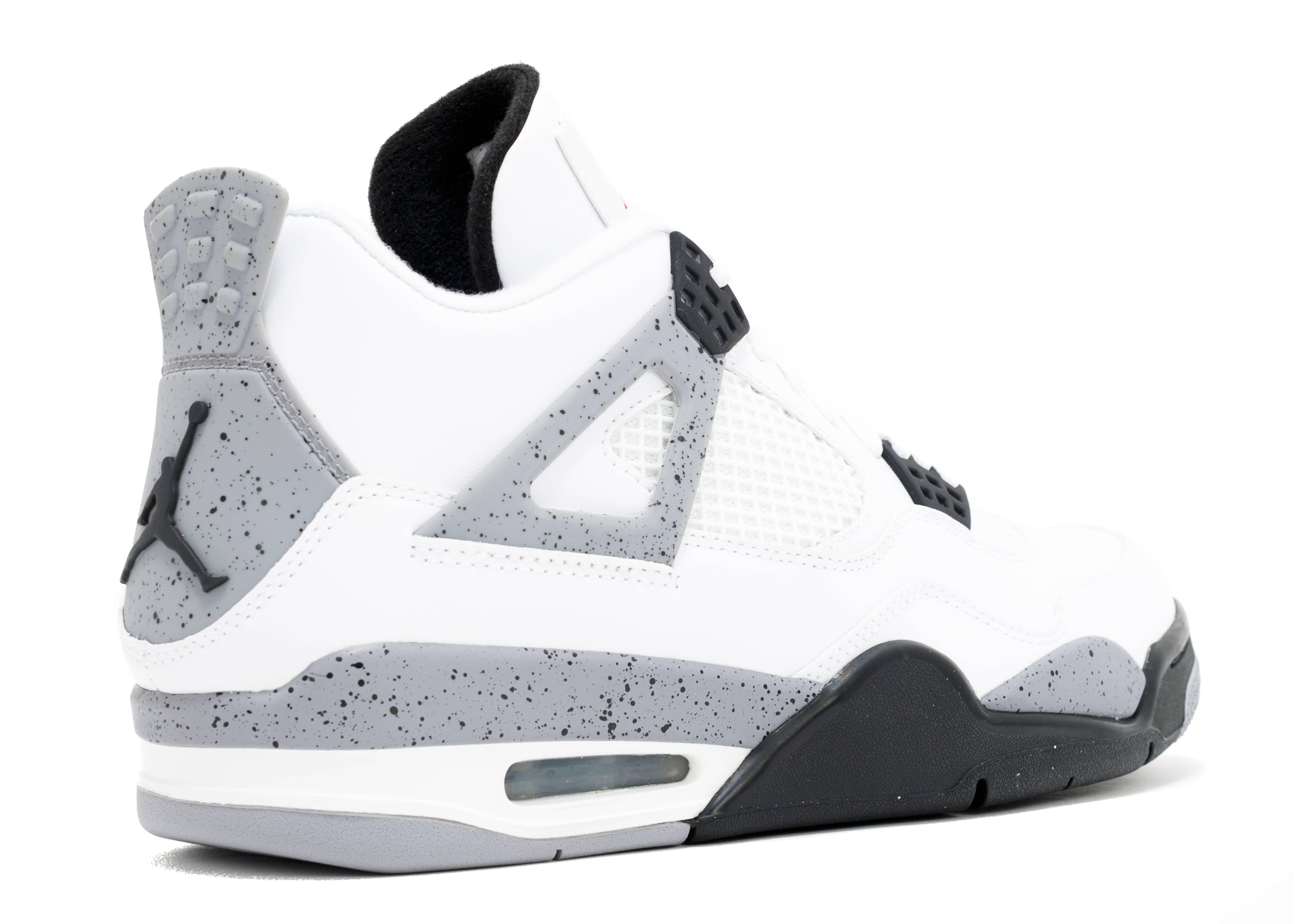 """très nike pas cher shox chaussures - air jordan 4 retro """"2012 release"""" - white/black-cement grey - Air ..."""